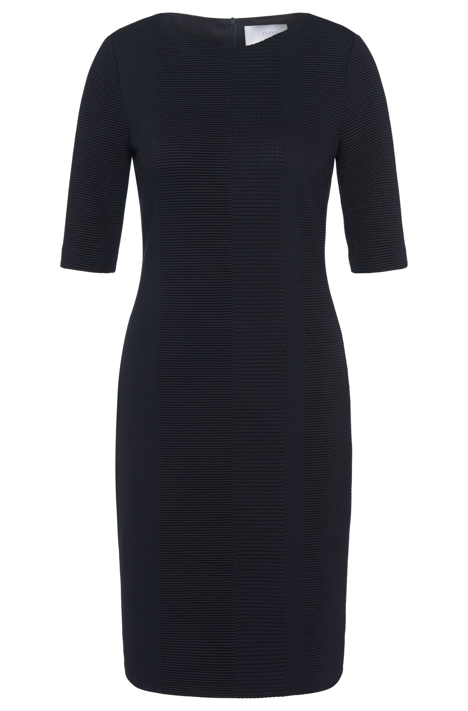 Figure-hugging dress with half-length sleeves: 'Heralina'