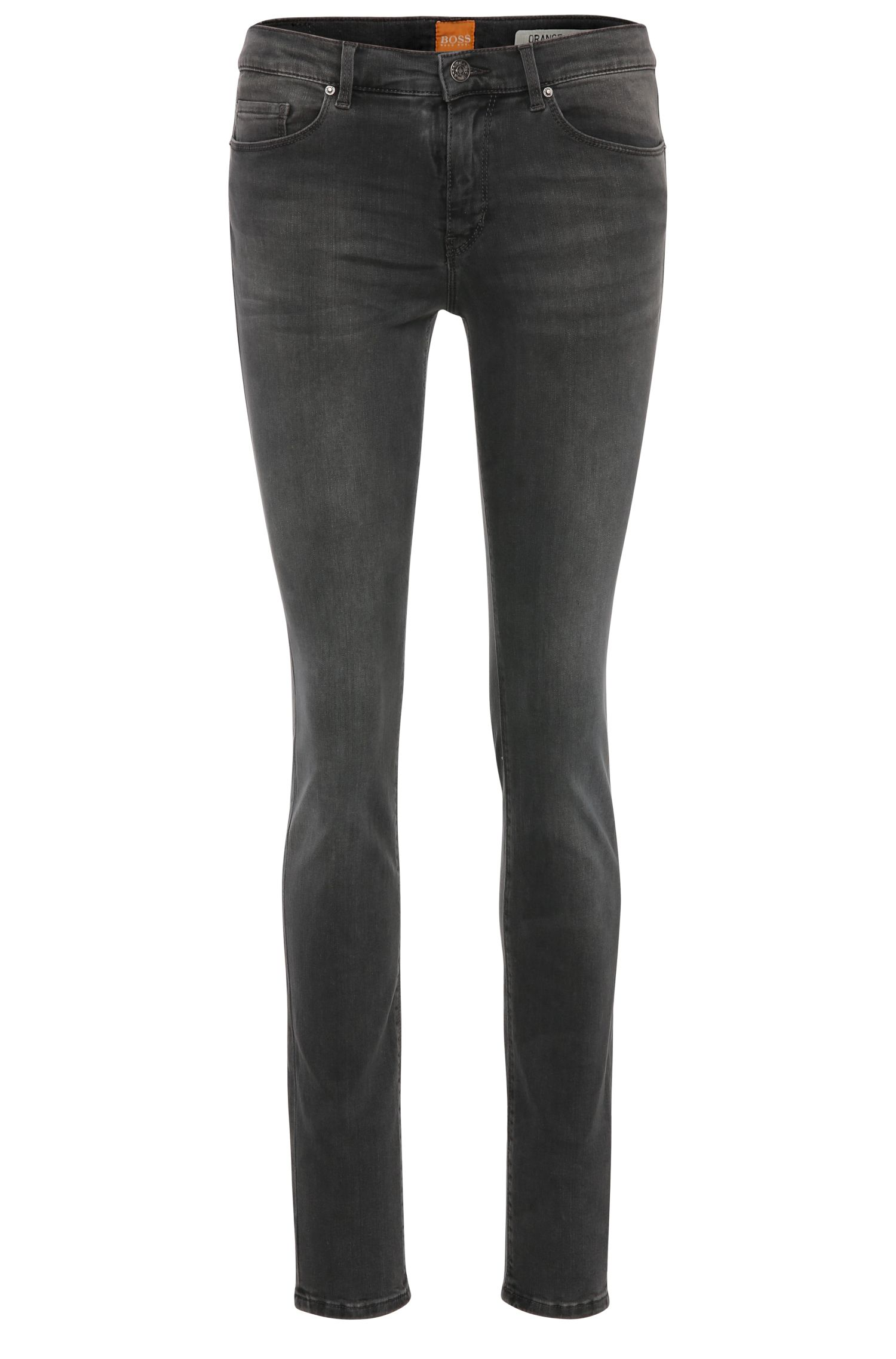 Slim-Fit Jeans aus Baumwoll-Mix mit Elasthan: ´Orange J10`
