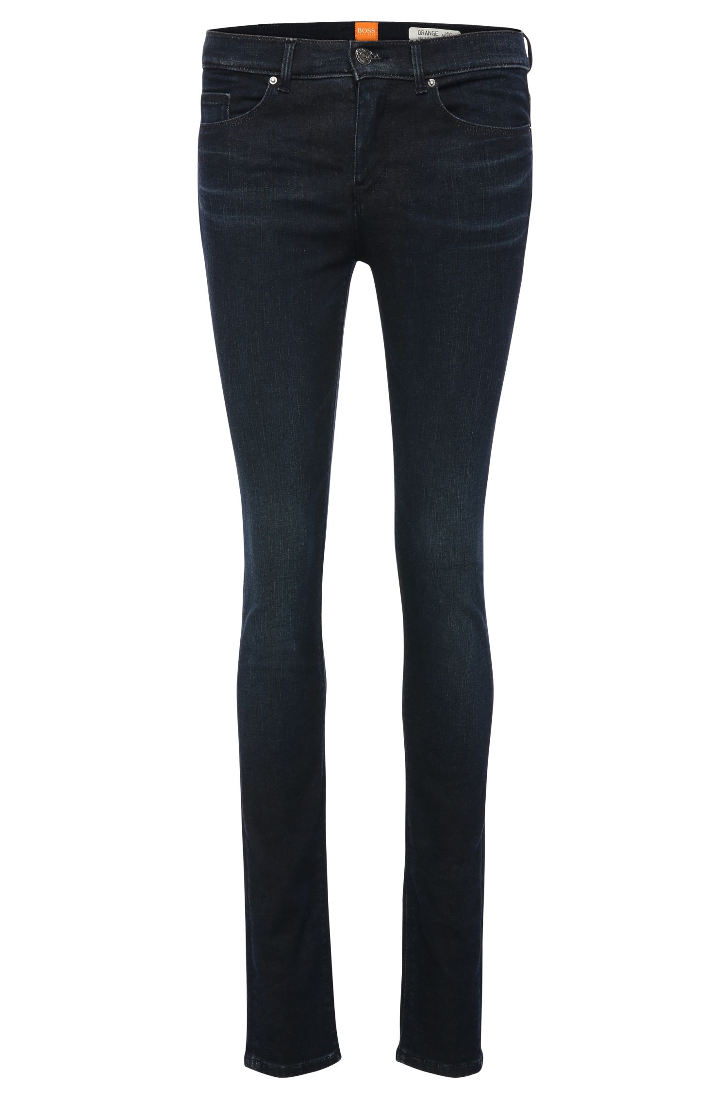 Slim-fit jeans in stretch-cotton blend: 'Orange J10'
