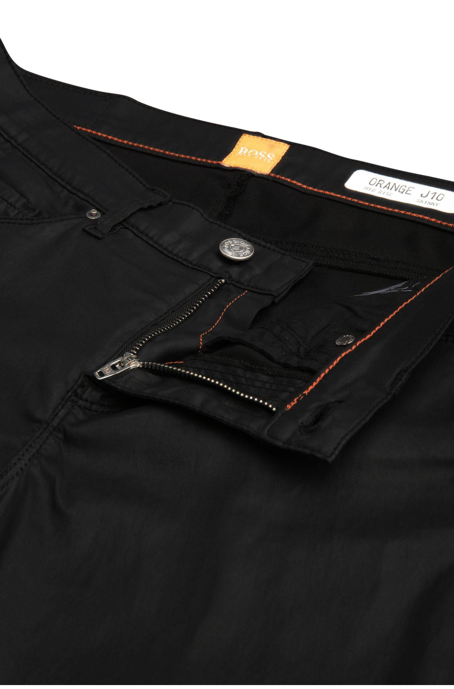 Skinny-Fit Jeans aus elastischem Material-Mix mit Baumwolle: ´Orange J10 Florida`