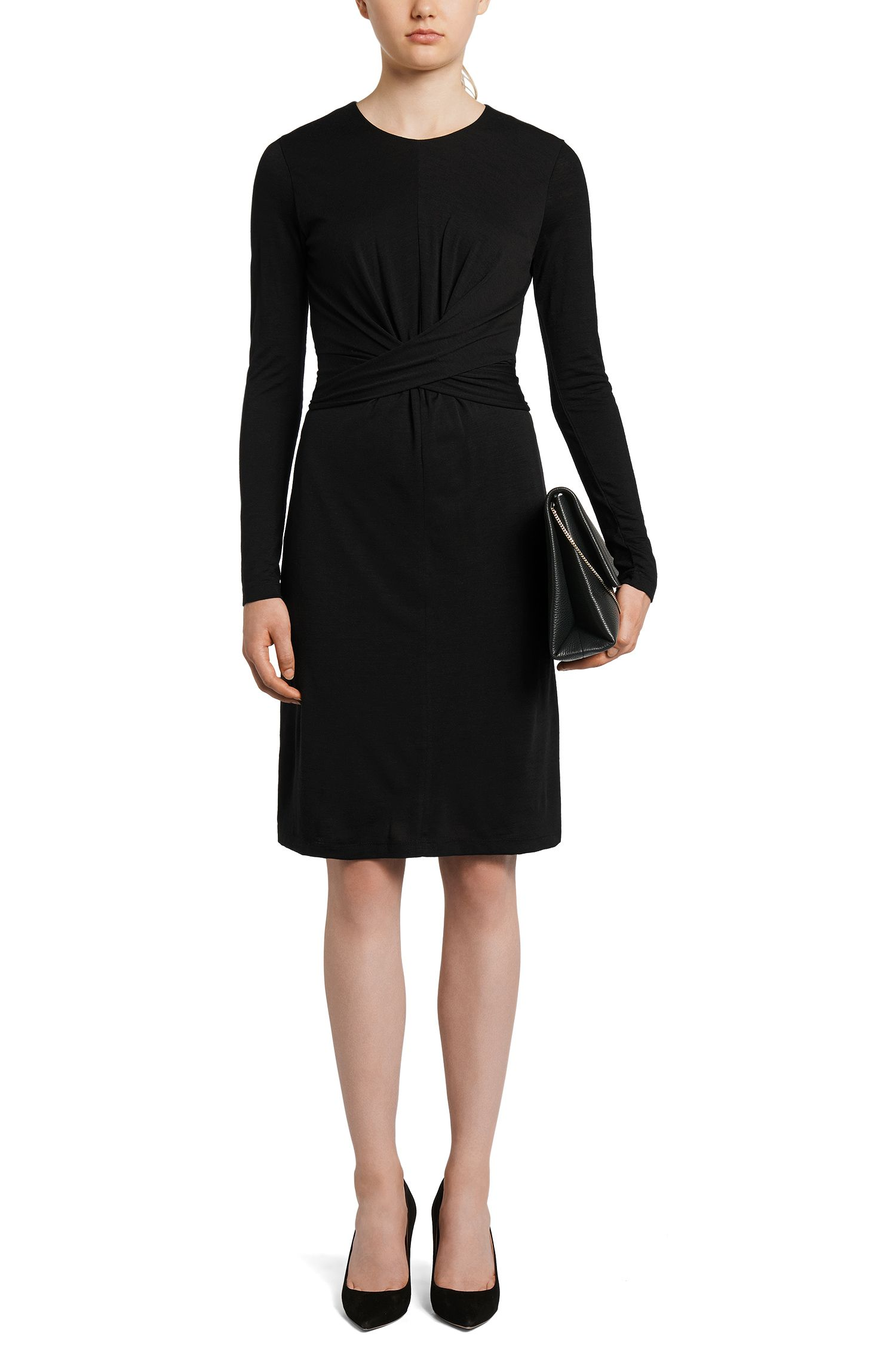 Tailliertes Jersey-Kleid aus Wolle: 'Eduna'