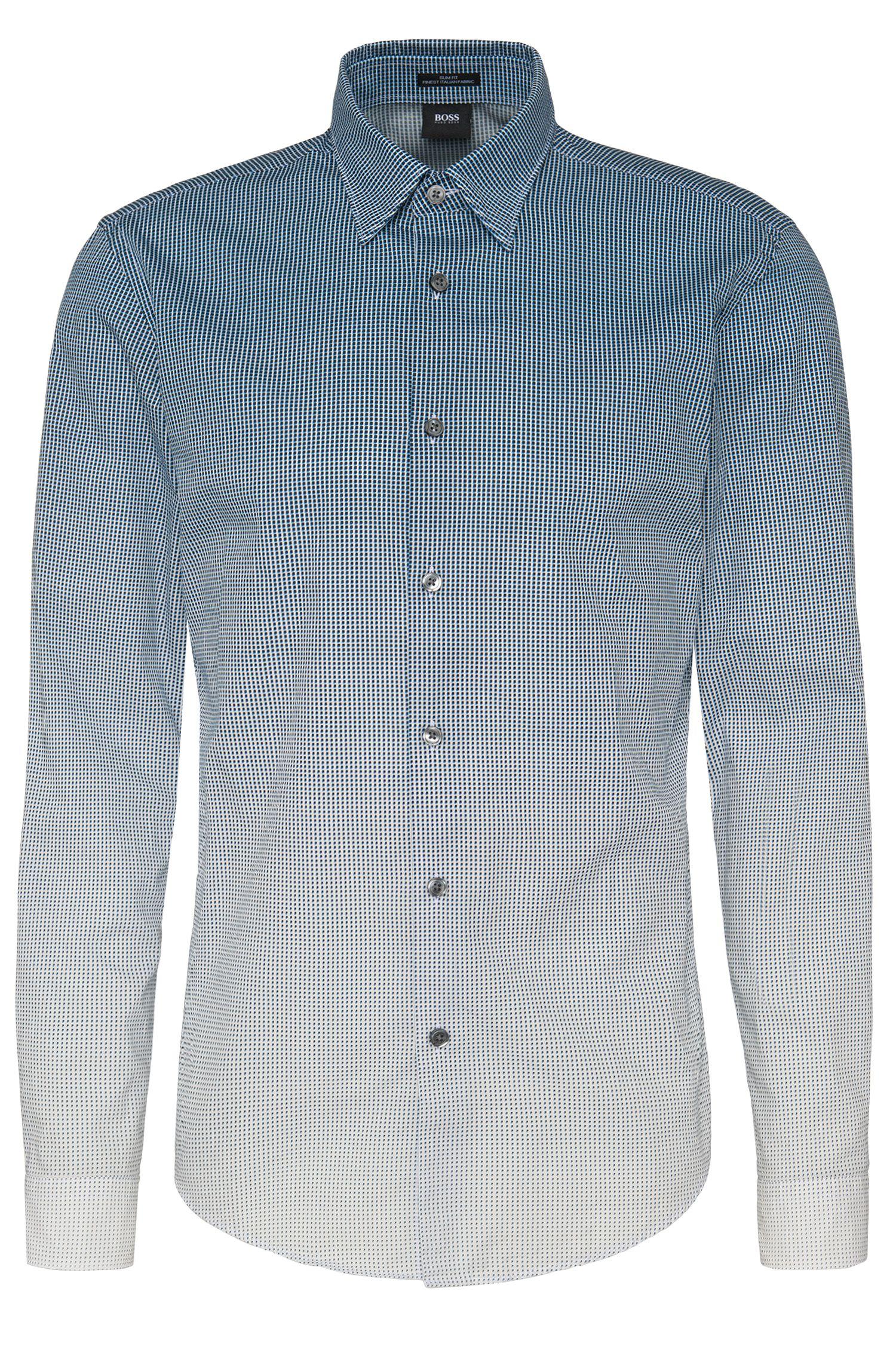 Chemise Slim Fit à motif en coton: «Rodney_FO»