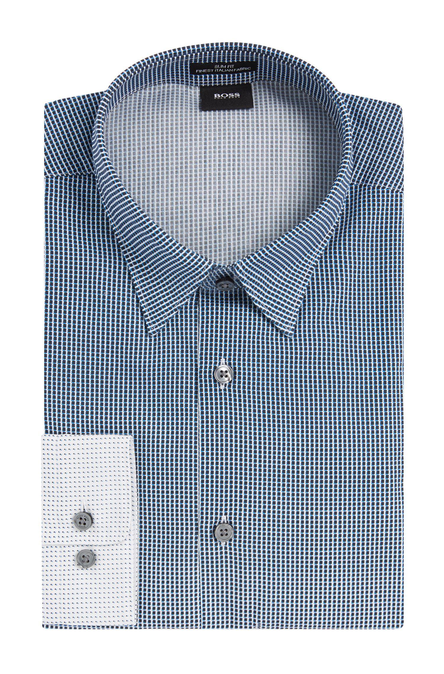 Gemustertes Slim-Fit Hemd aus Baumwolle: 'Rodney_FO'