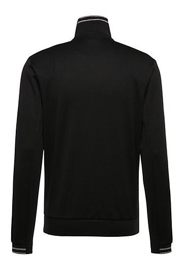 Regular-Fit Sweater aus einem Baumwoll-Mix: ´Sweat`, Schwarz