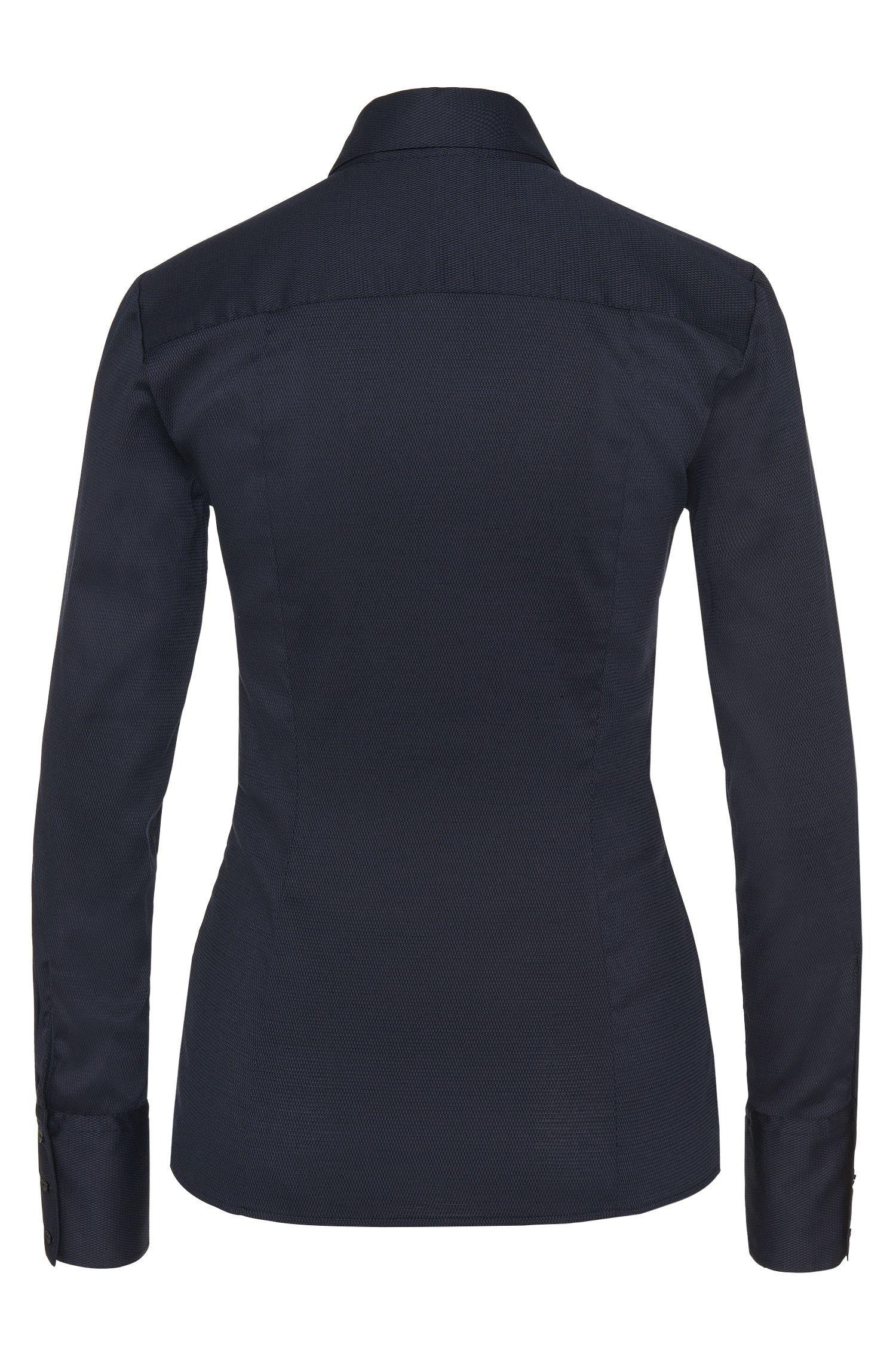 Taillierte Bluse aus Baumwoll-Mix mit breiten Manschetten: 'Etrixe1'