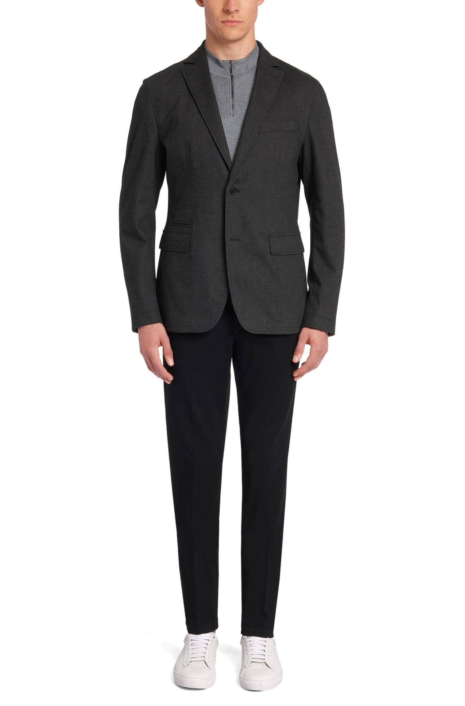 Veste de costume Regular Fit à motif en coton mélangé extensible: «Jelmar-T»