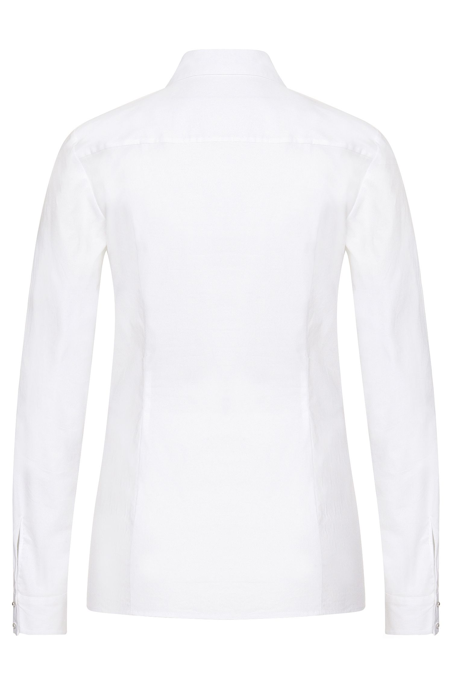 Chemisier en coton extensible pourvu d'une patte de boutonnage invisible: «Etri»