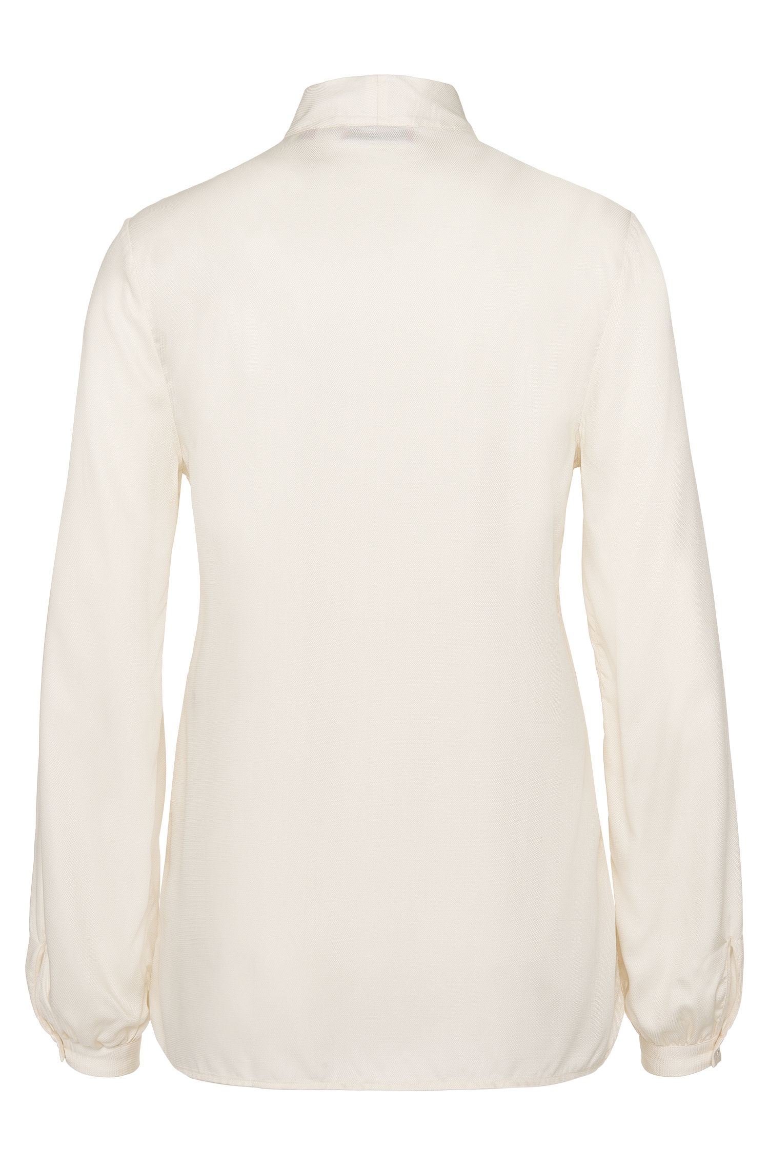 Bluse aus Modal mit Schluppenkragen: 'Eclovi'