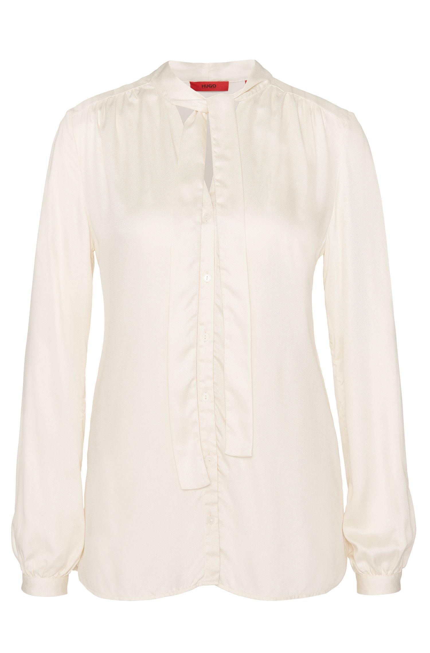 Blusa de modal con cuello con lazo: 'Eclovi'