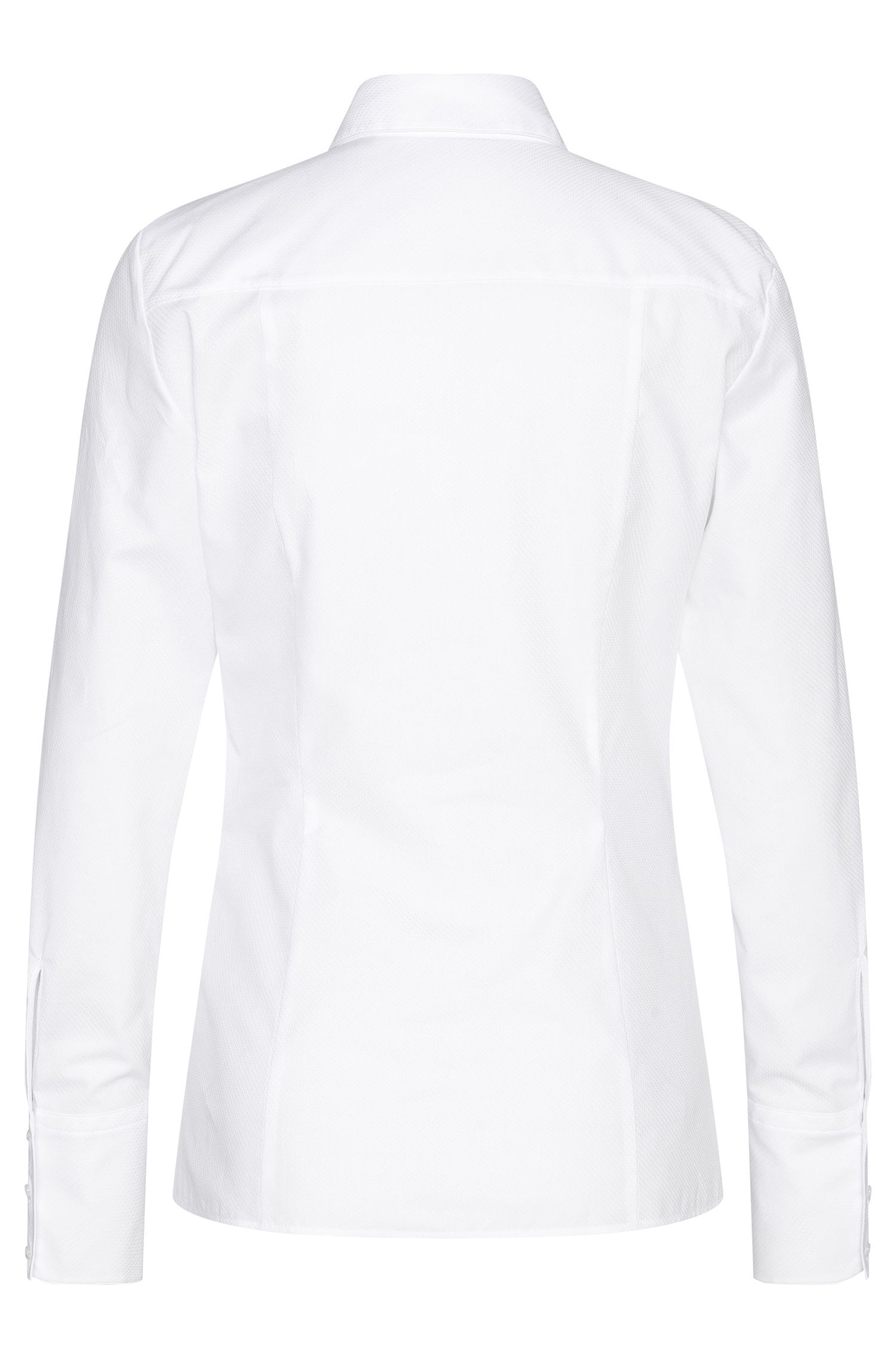 Fein strukturierte Hemdbluse aus Baumwolle: 'Etrixe1'