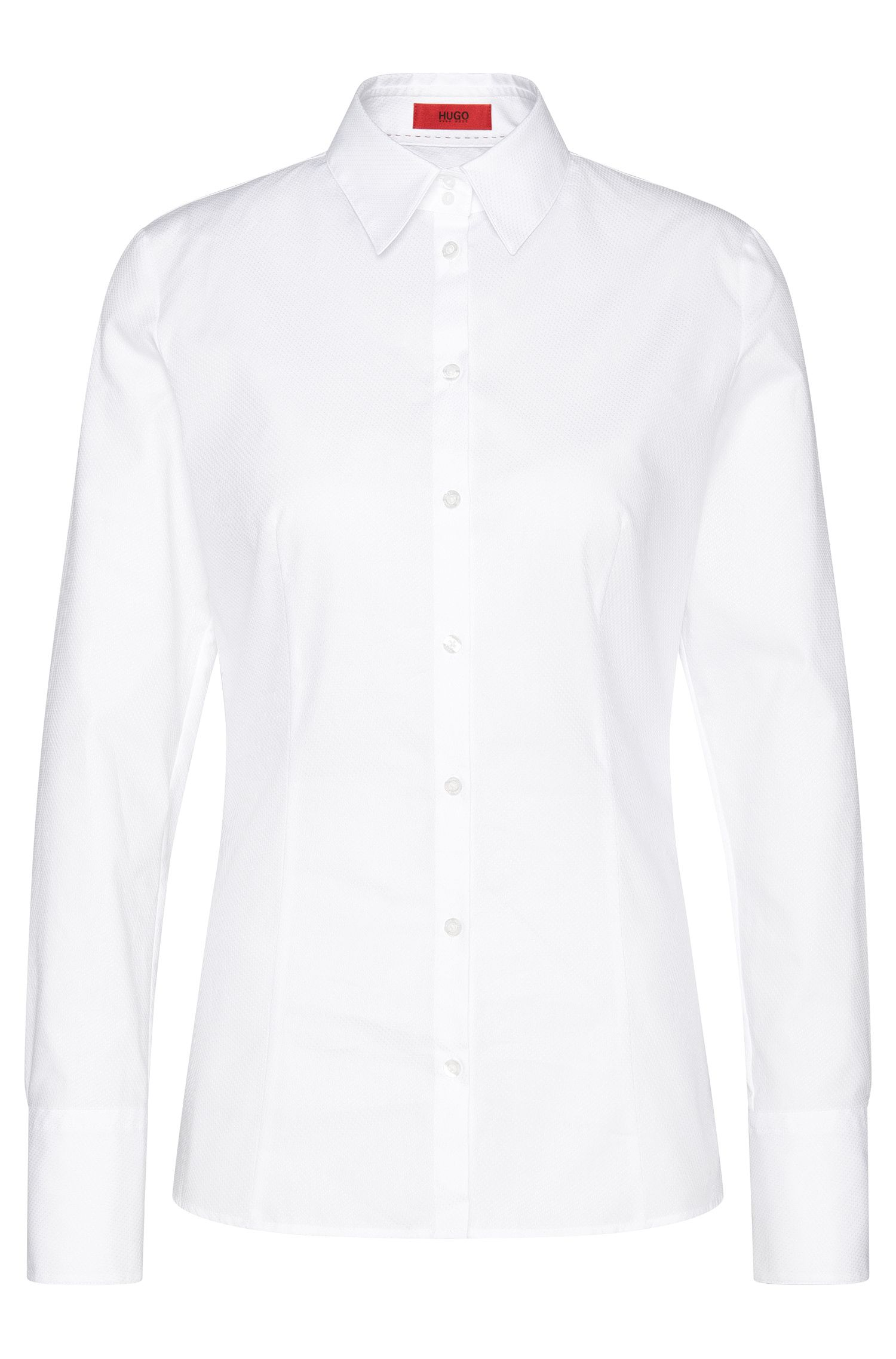 Finely textured shirt-style blouse in cotton: 'Etrixe1'