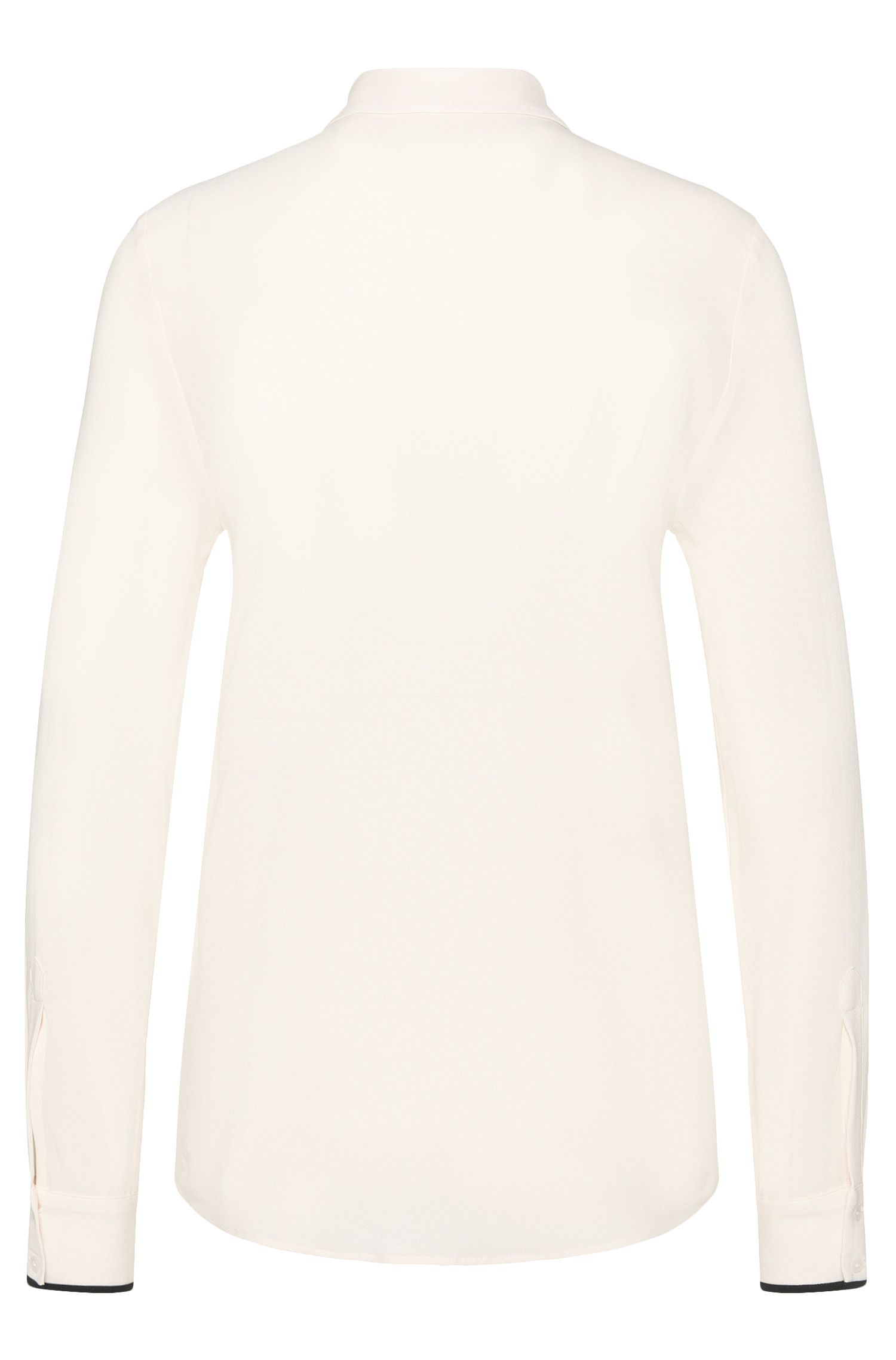 Bluse aus Stretch-Viskose mit kontrastiver Paspel: 'Efesiel'