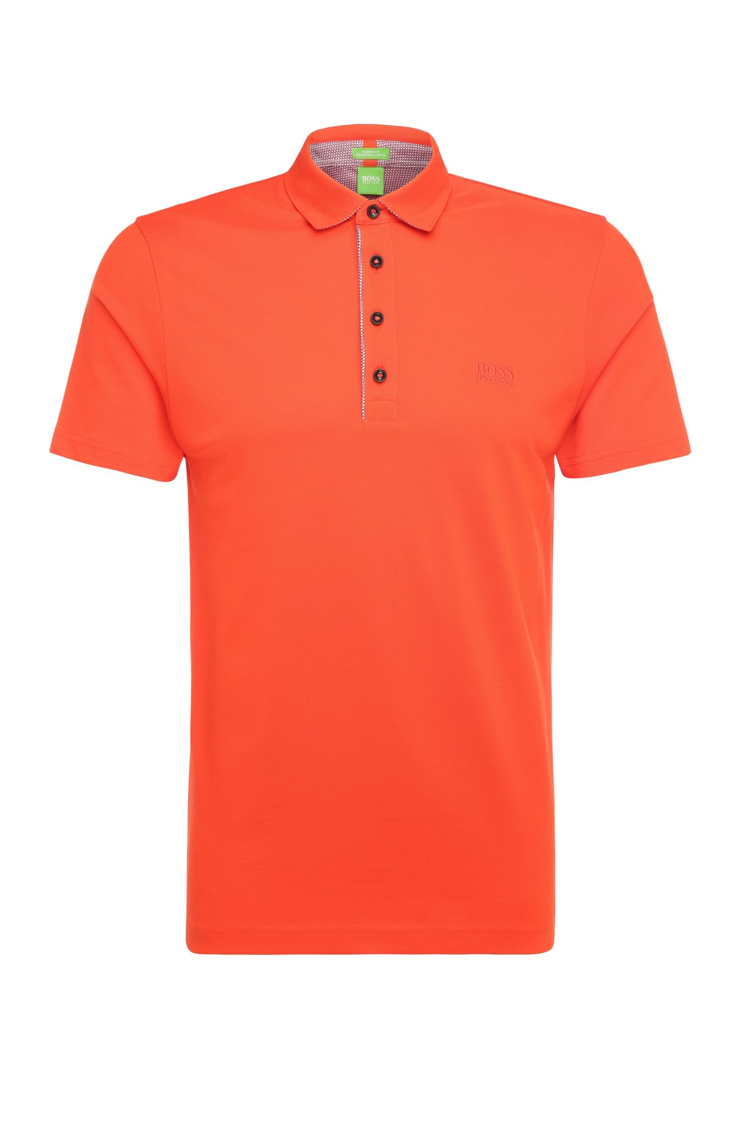 Polo Regular Fit en coton texturé : « C-Firenze 1 »