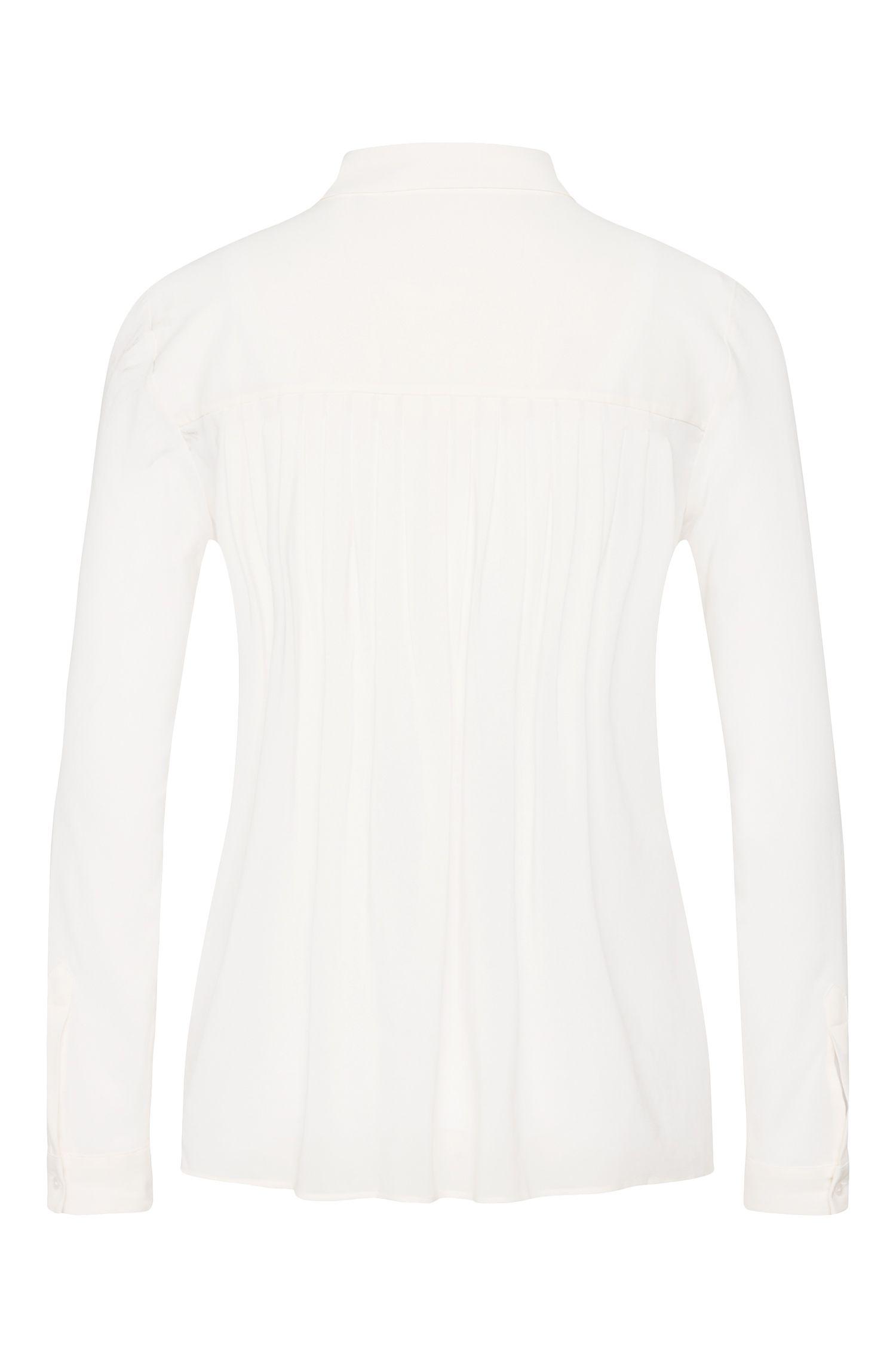 Bluse aus elastischer Viskose mit Kellerfalten am Rücken: 'Evellia'