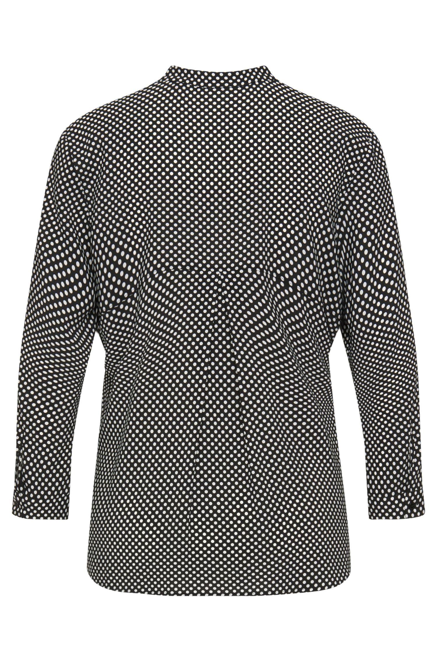 Bluse aus Stretch-Viskose mit Polka-Dots-Design: 'Esille'