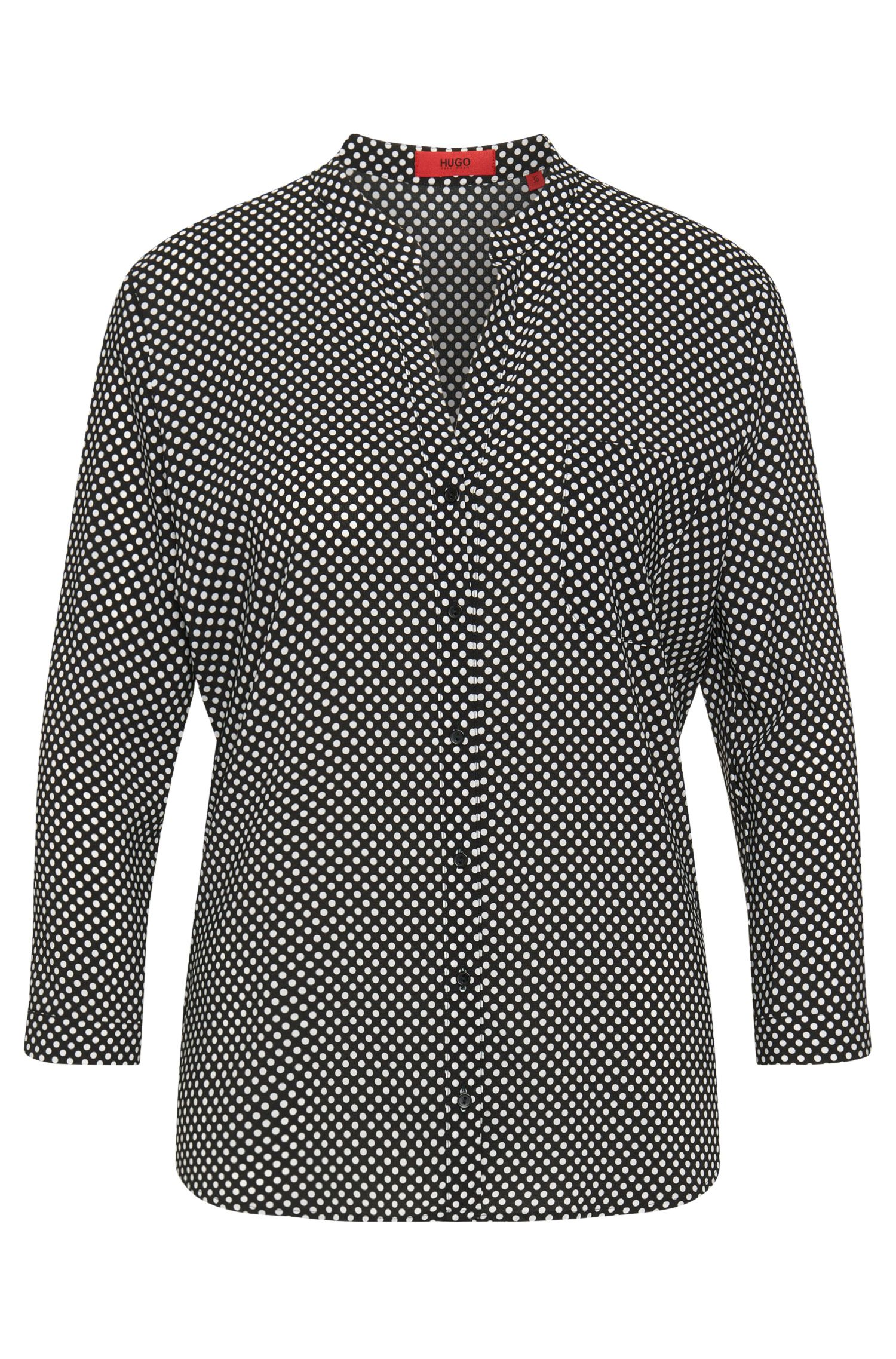 Blouse in stretch viscose with polka-dot design: 'Esille'