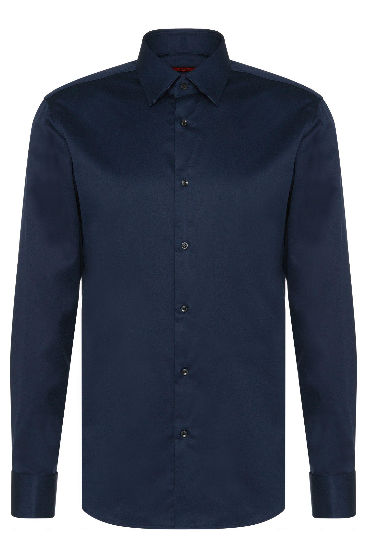 Regular-Fit Hemd aus Baumwolle mit Umschlagmanschetten: 'C-George'