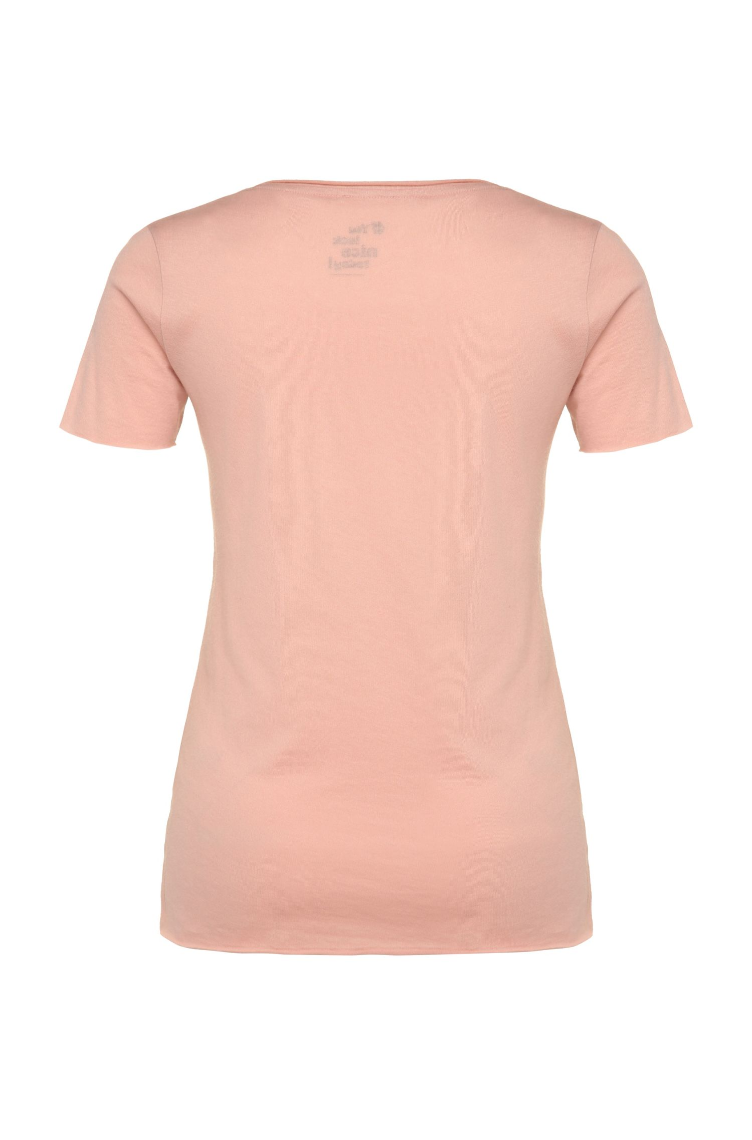 Slim-Fit T-Shirt aus Baumwoll-Mix mit Modal mit Print: ´Tasensation`