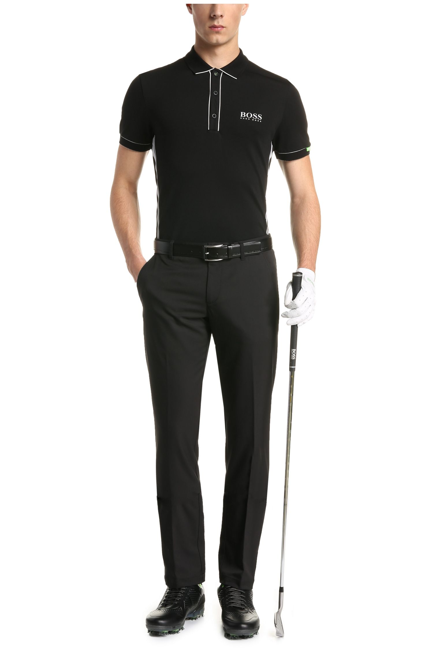 Regular-fit polo van een elastische katoenmix: 'Paddy MK 1'