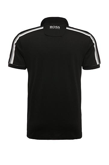 Regular-Fit Polo aus einem Baumwoll-Mix mit Elasthan: ´Paddy MK 1`, Schwarz
