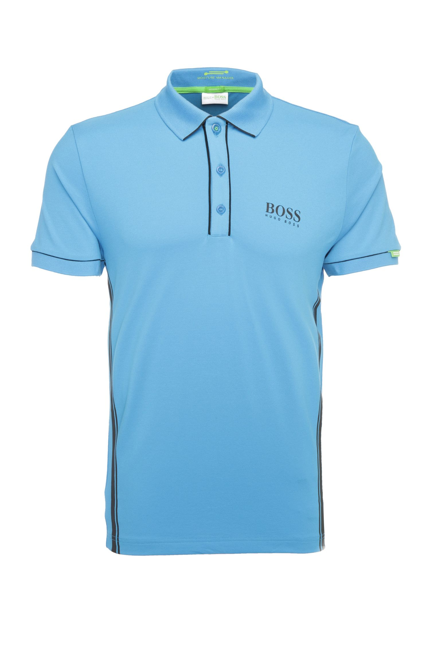 Regular-fit polo shirt in stretch cotton blend: 'Paddy MK 1'