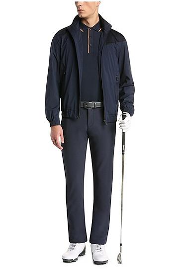Slim-Fit Poloshirt aus elastischem Baumwoll-Mix: ´Paule 1`, Dunkelblau