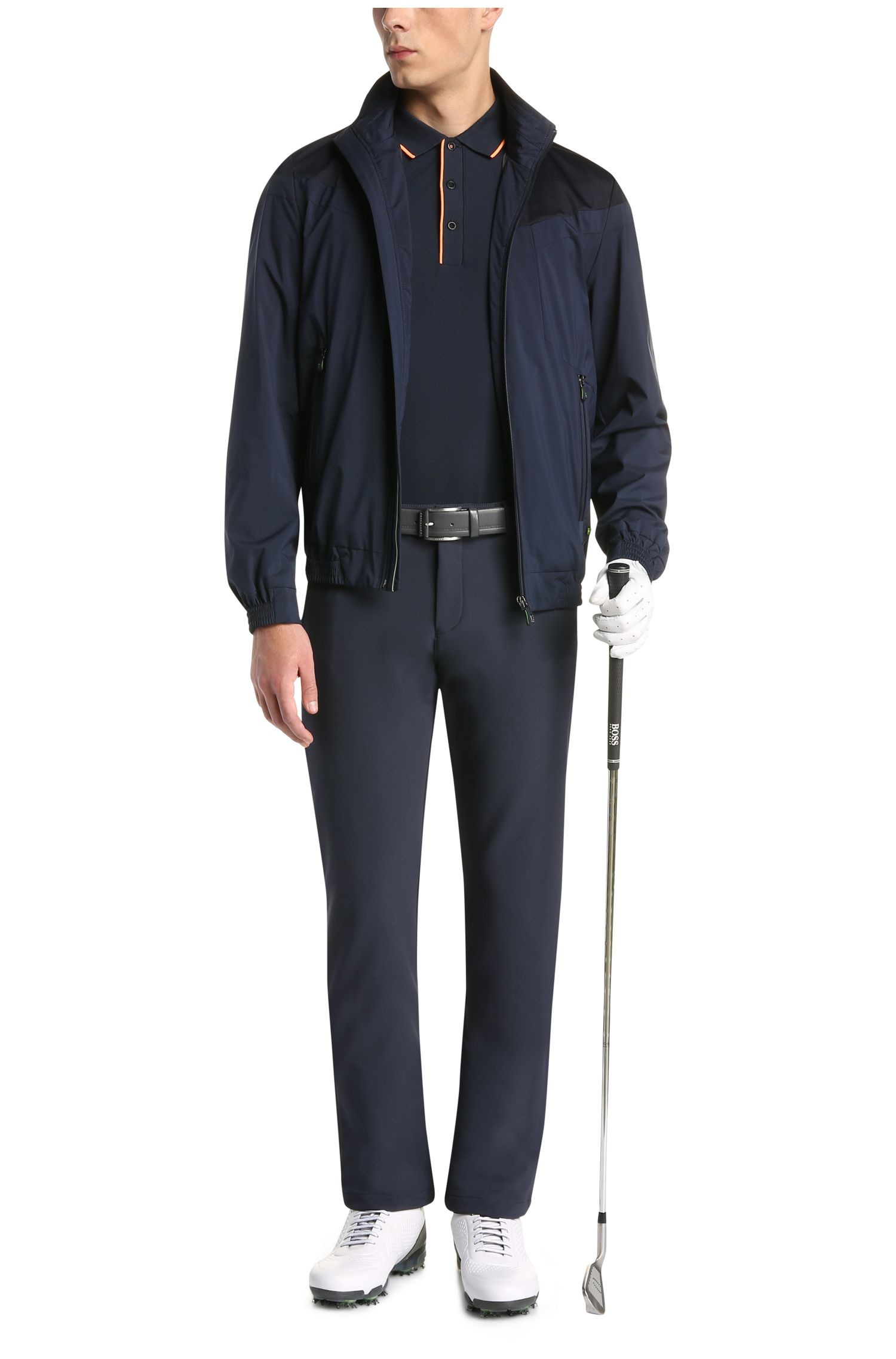 Slim-Fit Poloshirt aus elastischem Baumwoll-Mix: ´Paule 1`