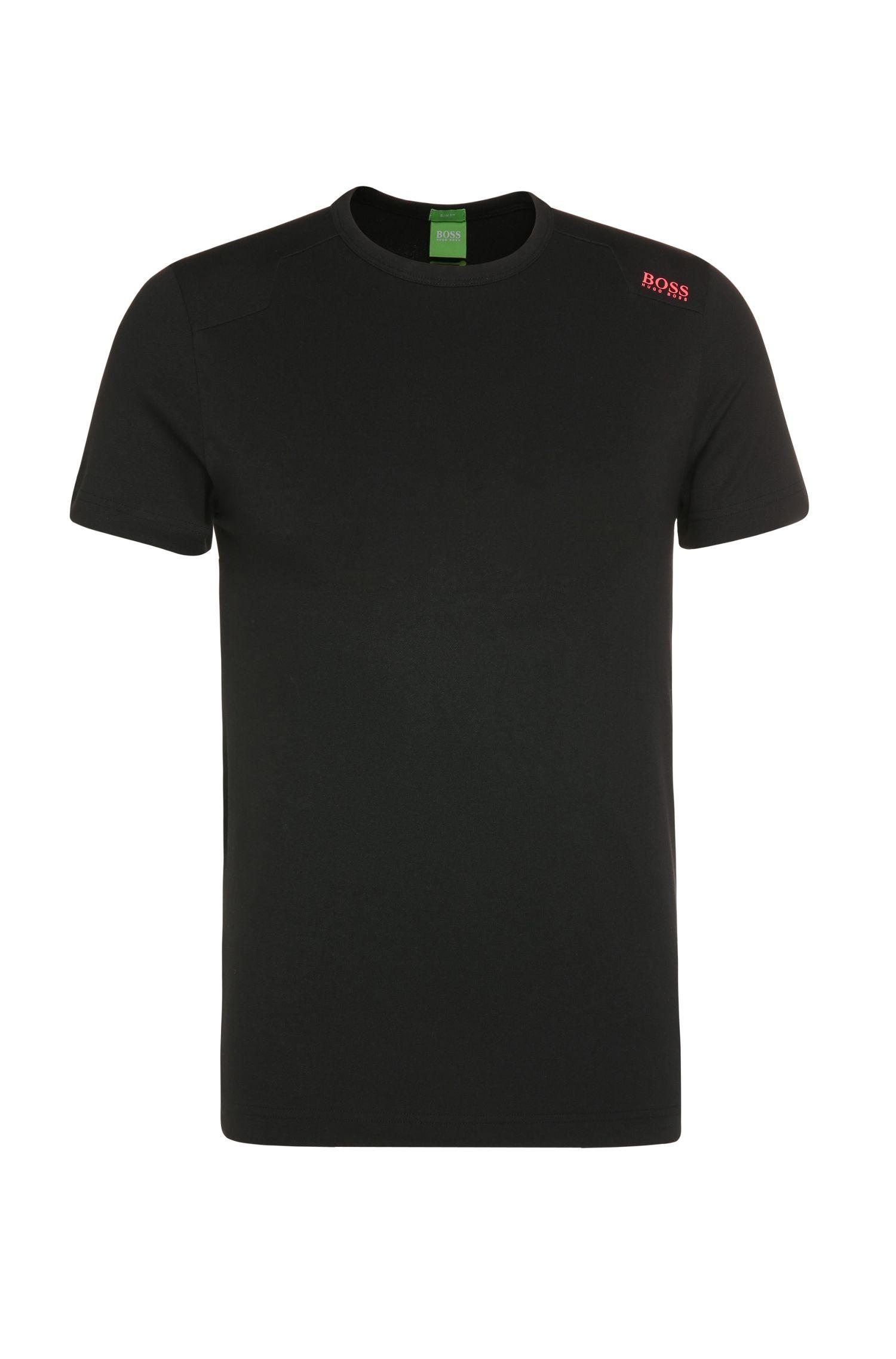 T-shirt fonctionnel Slim Fit en coton mélangé extensible: «Teenox»