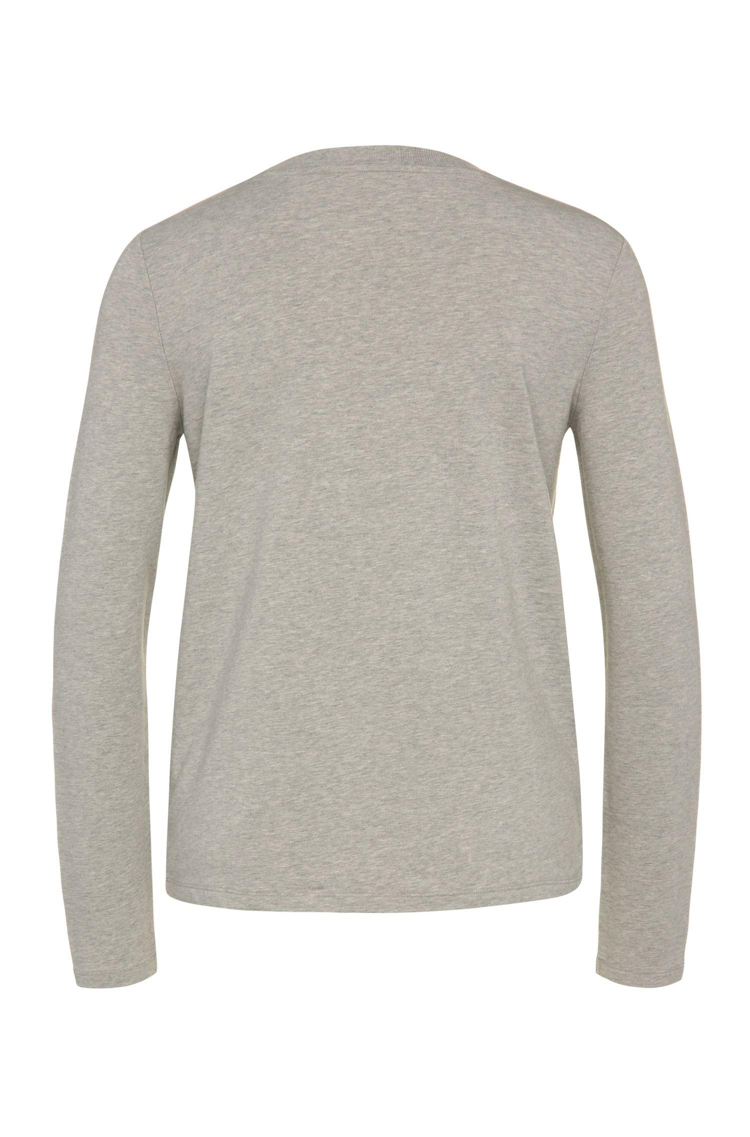 Verziertes Regular-Fit Sweatshirt aus elastischem Viskose-Mix mit Baumwolle: ´Tacollar`