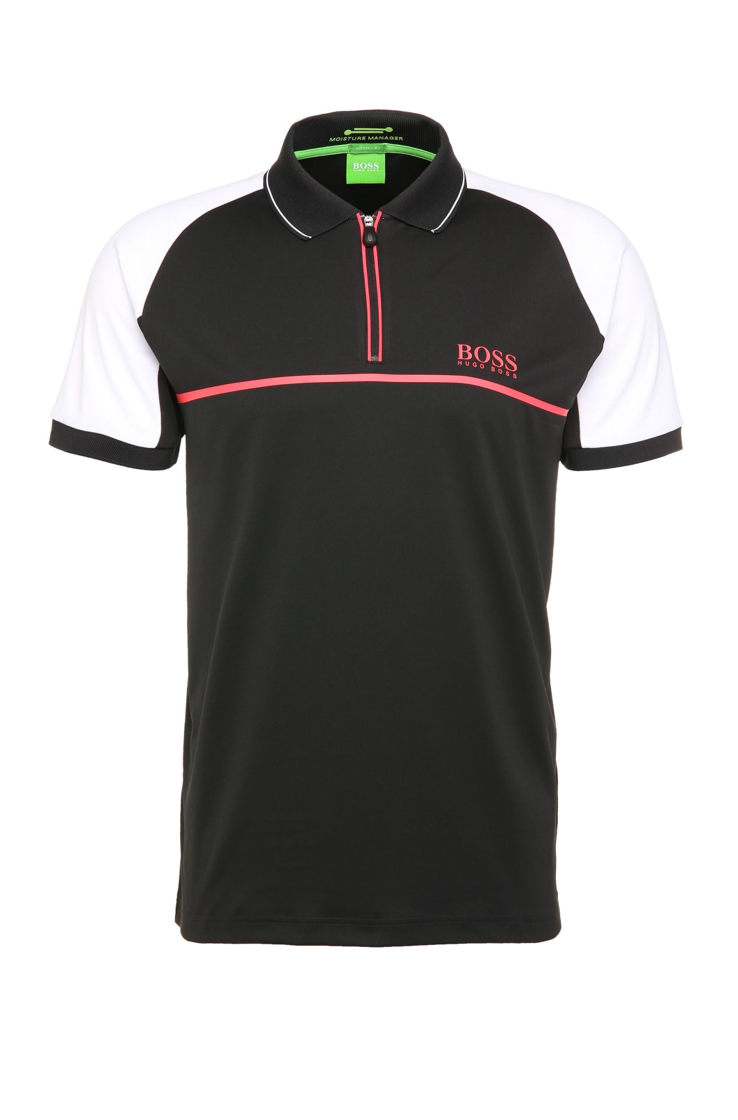 Regular-fit polo shirt in stretch functional fabric: 'Prek Pro'