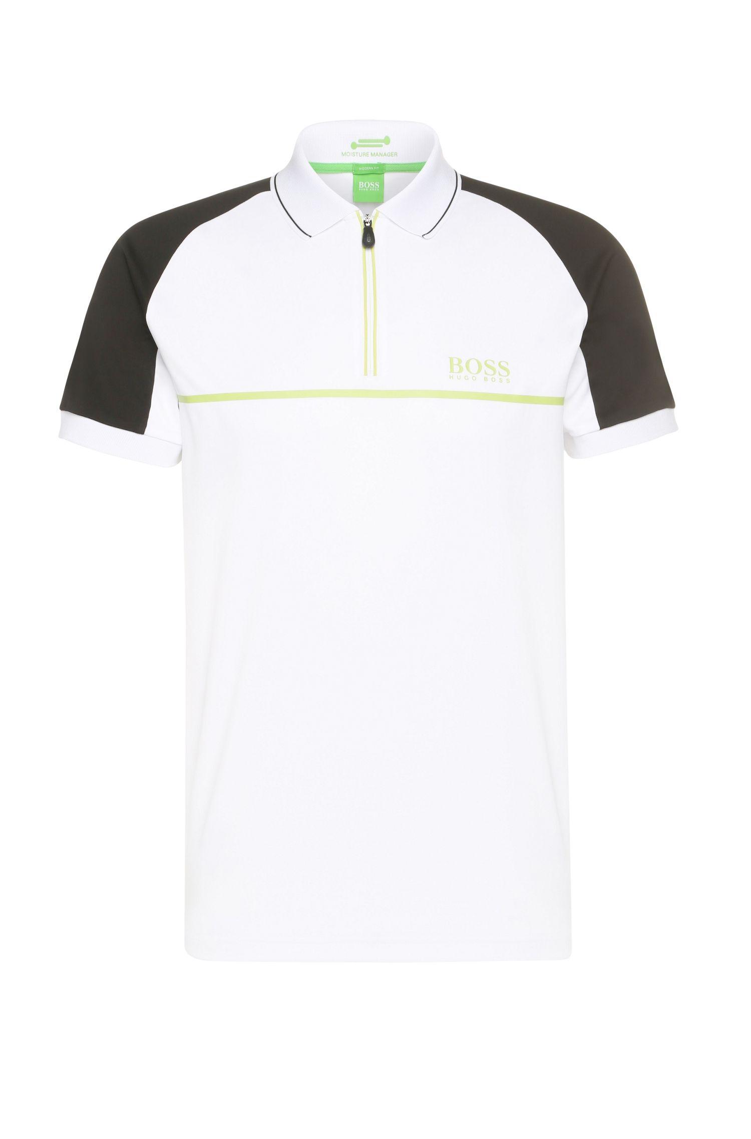 Regular-Fit Poloshirt aus elastischem Funktions-Textil: ´Prek Pro`