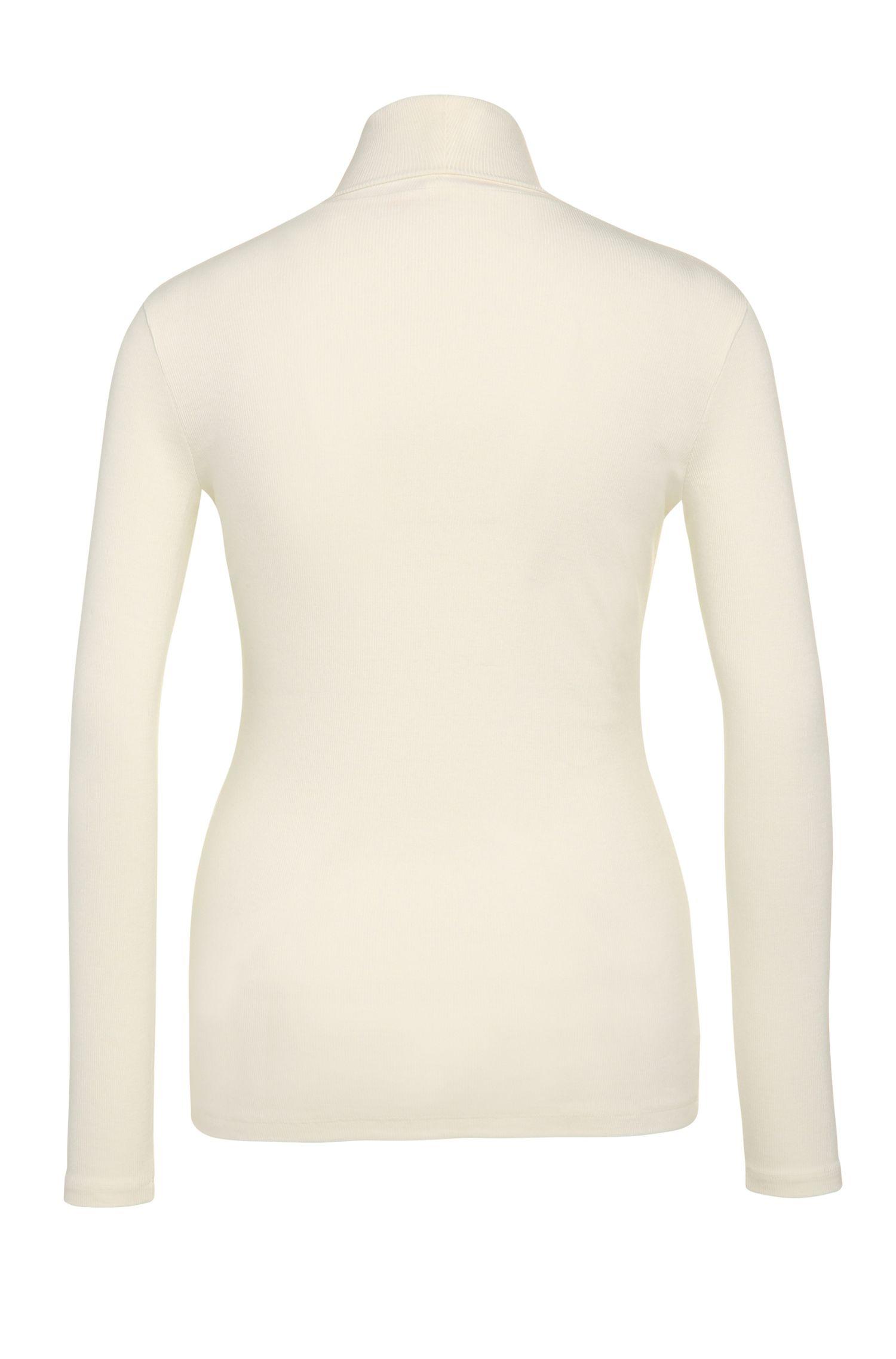 Slim-Fit Rollkragenpullover aus elastischem Viskose-Mix mit Wolle: ´Turtlas`