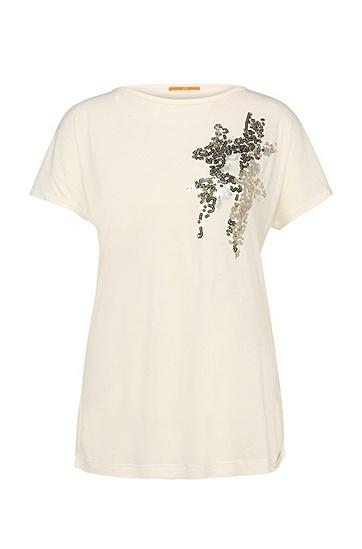 Regular-Fit T-Shirt aus Viskose-Mix mit Wolle: ´Taximi` , Natur