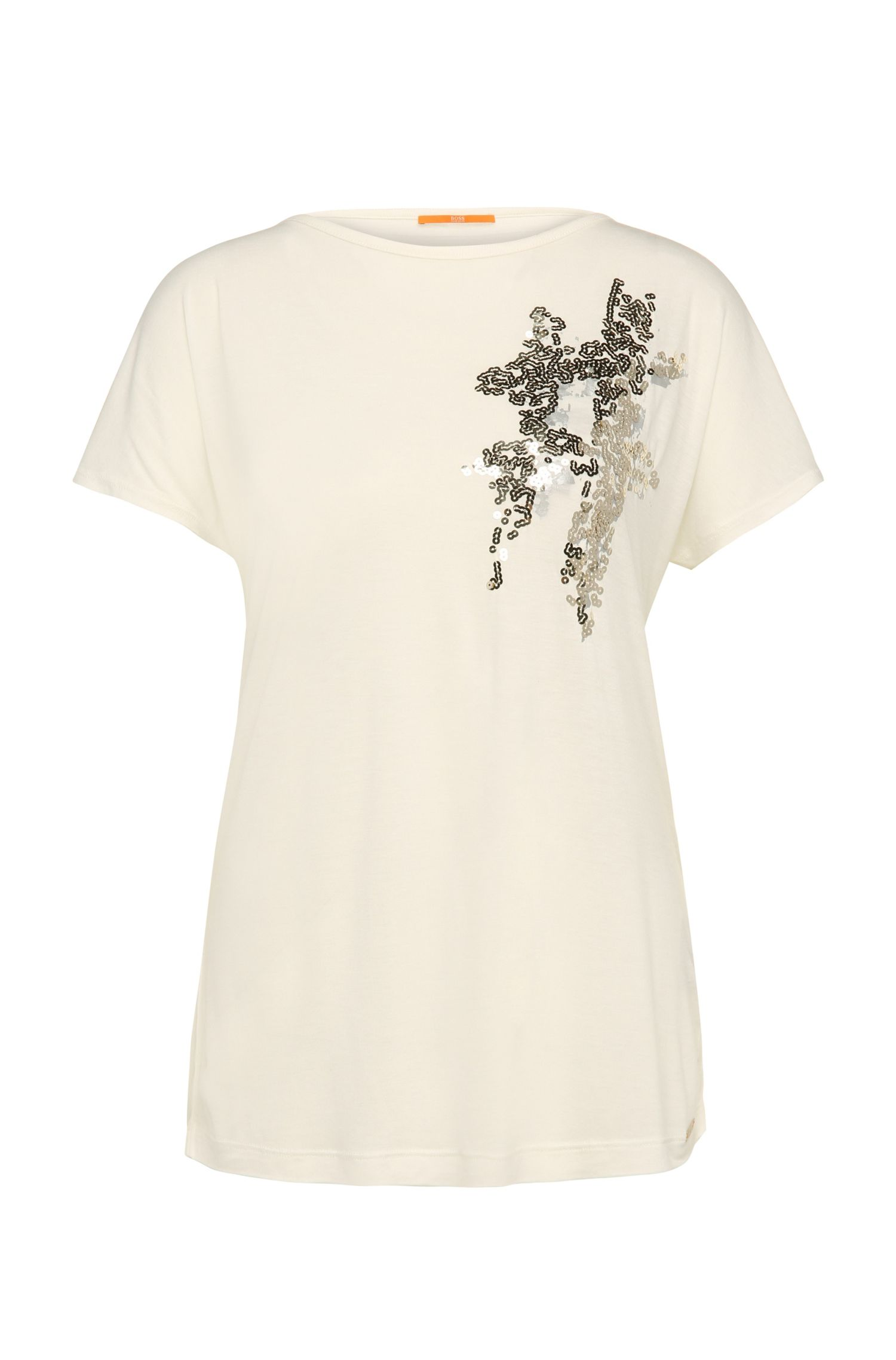 Regular-Fit T-Shirt aus Viskose-Mix mit Wolle: ´Taximi`