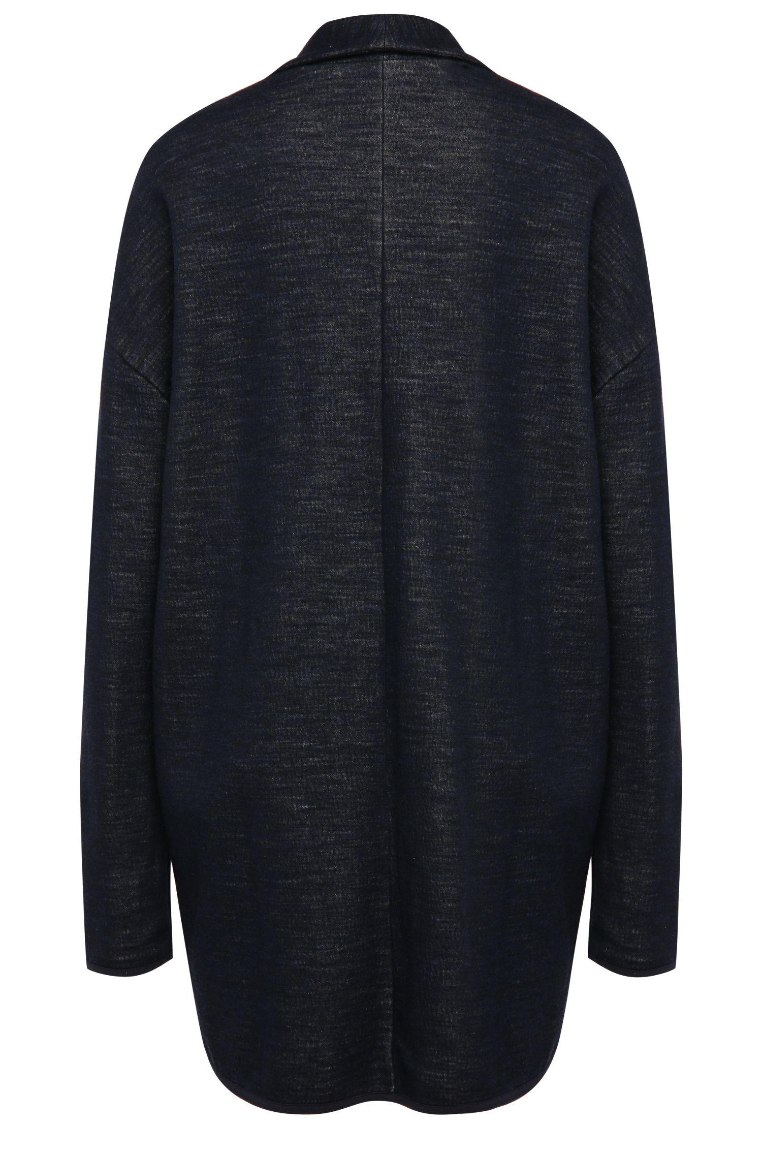 Jersey-Jacke mit kantigem Smoking-Kragen und Kontrastinnenseite: ´Tercoat`