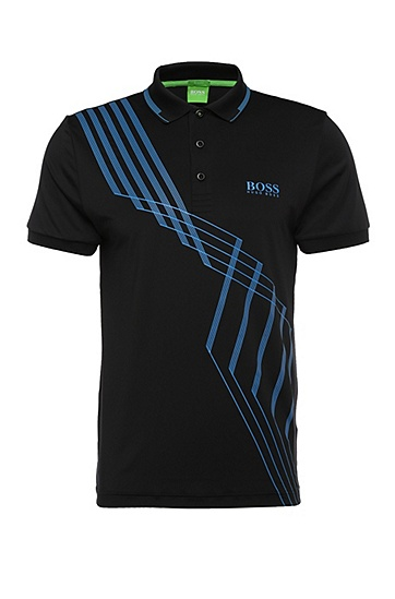 Slim-Fit Poloshirt in komfortabler Stretch-Qualität: ´Paule Pro 4`, Schwarz