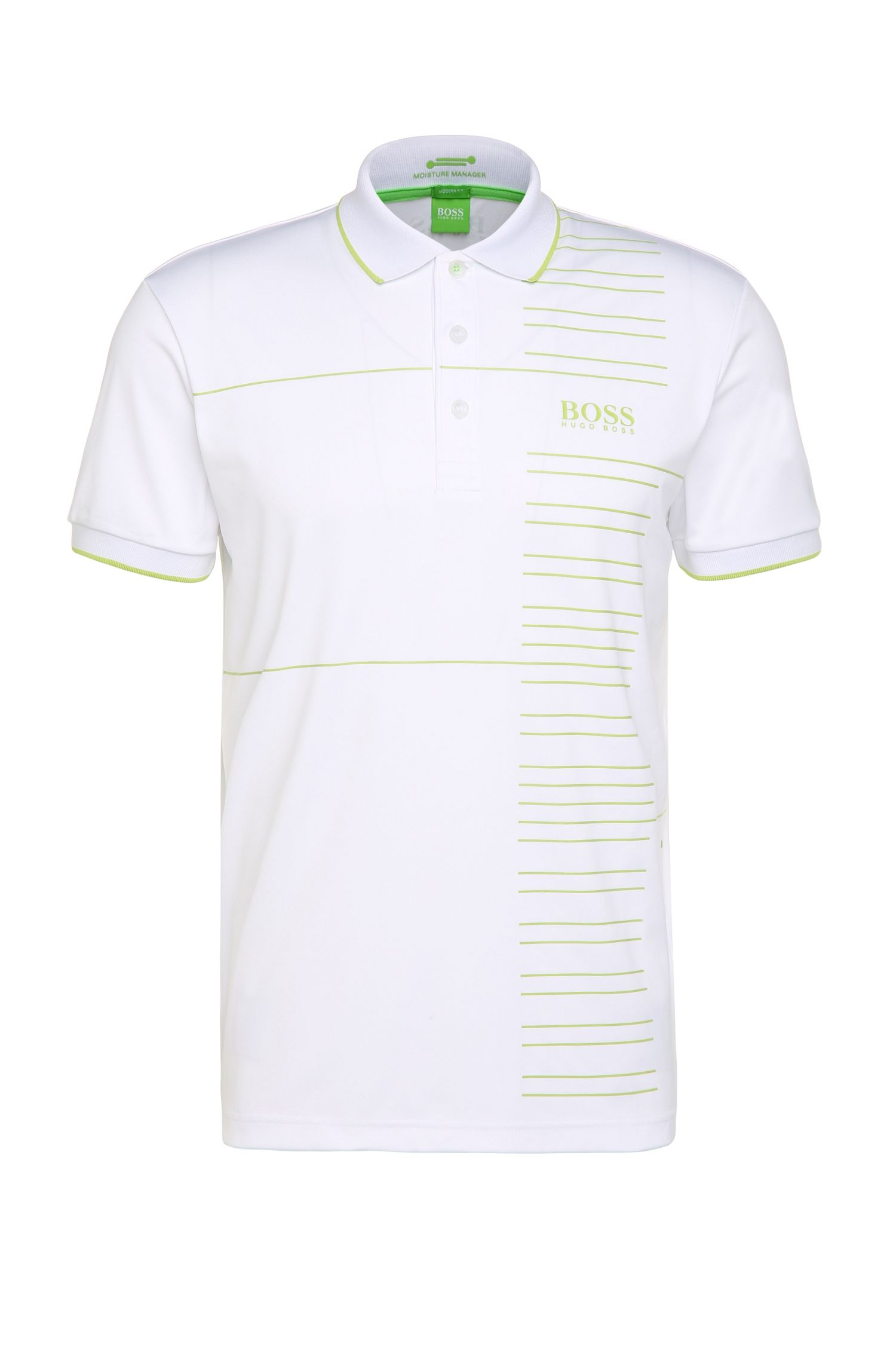 Regular-fit functional polo shirt in a stretchy fabric blend: 'Paddy Pro 2'