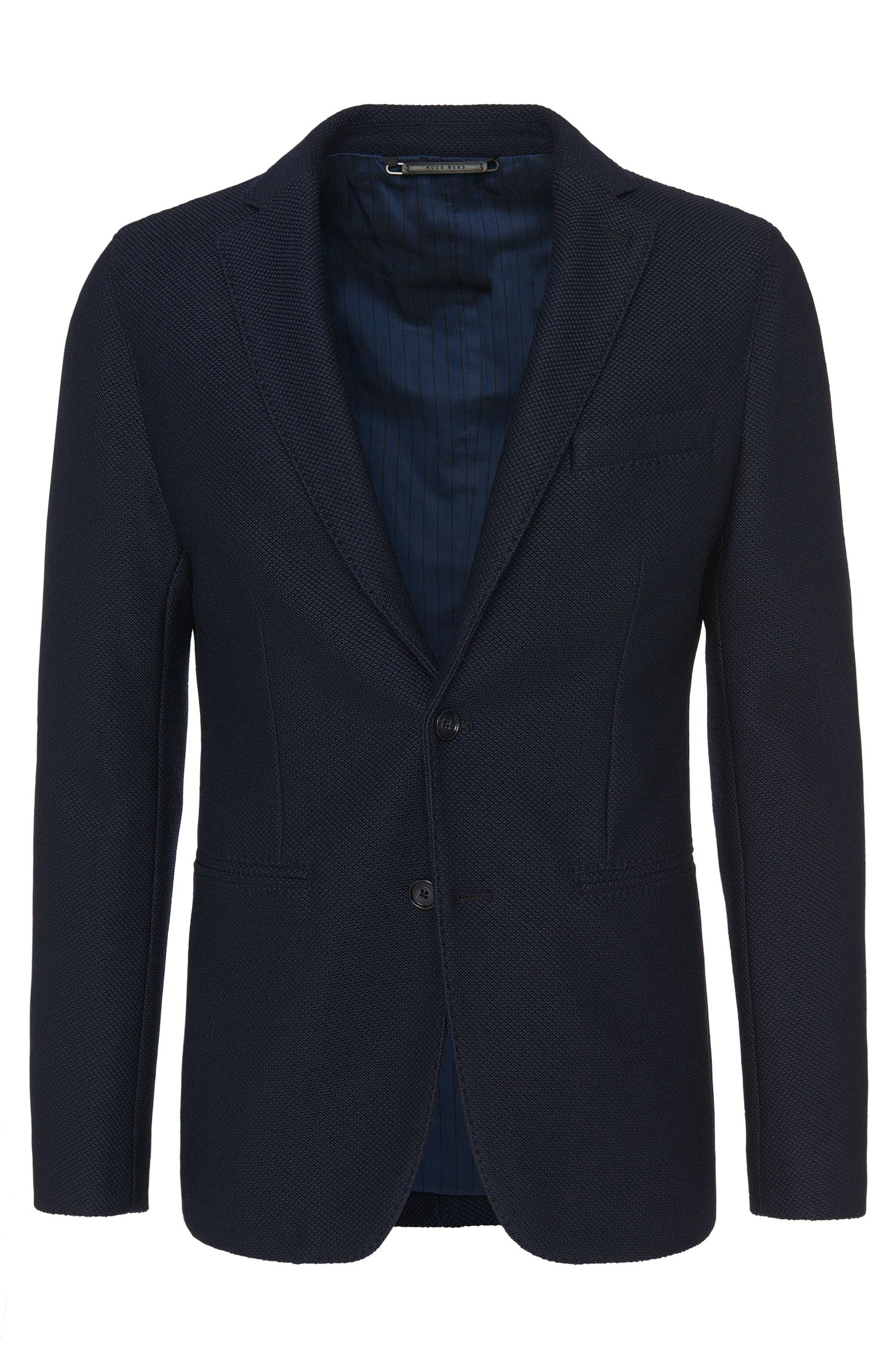 Veste de costume Slim Fit Tailored en laine vierge mélangée : « T-Nawin »