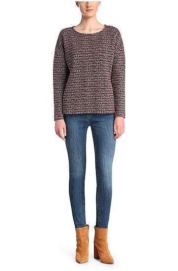 Weiter Pullover aus einem Baumwoll-Mix im Bouclé-Look: ´Taspasia`, Gemustert