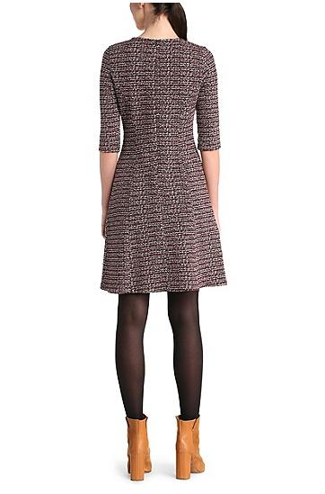 Tailliertes Kleid aus einem Baumwoll-Mix in Bouclé-Optik: ´Dacoco`, Gemustert