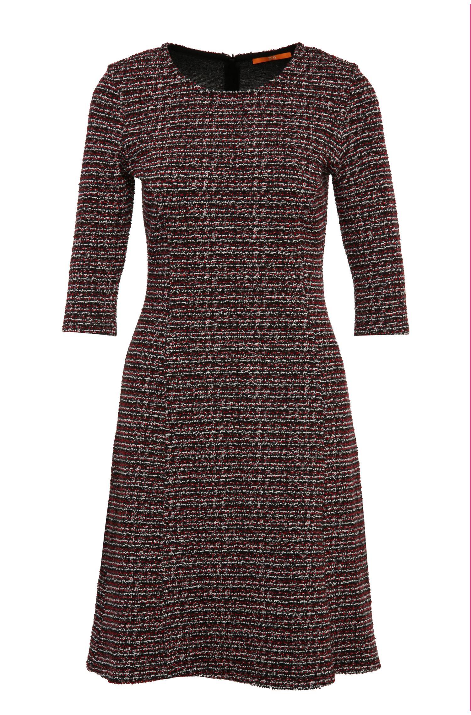 Tailliertes Kleid aus einem Baumwoll-Mix in Bouclé-Optik: ´Dacoco`