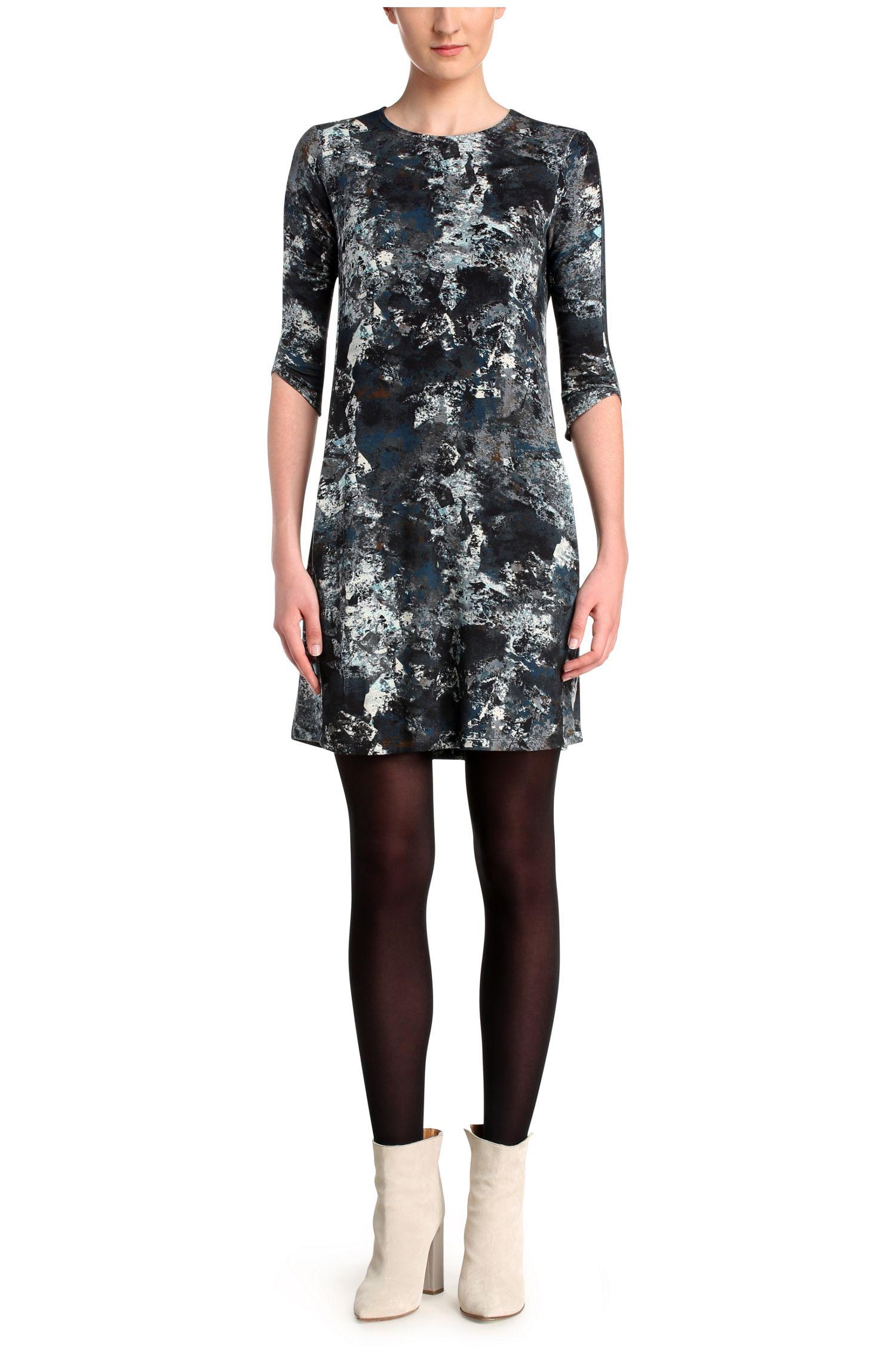 Gemustertes Kleid aus einem elastischen Viskose-Mix: ´Dimaiki`