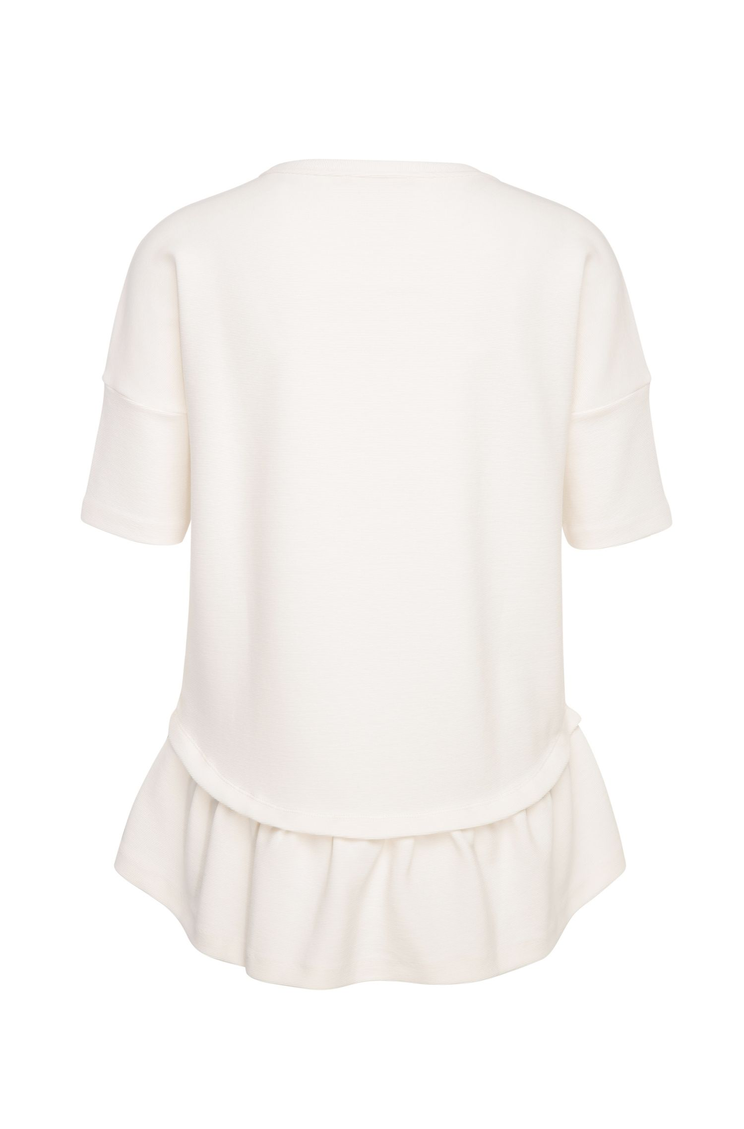 Comfort-Fit Peplum-Shirt aus elastischem Baumwoll-Mix: ´Tapep`