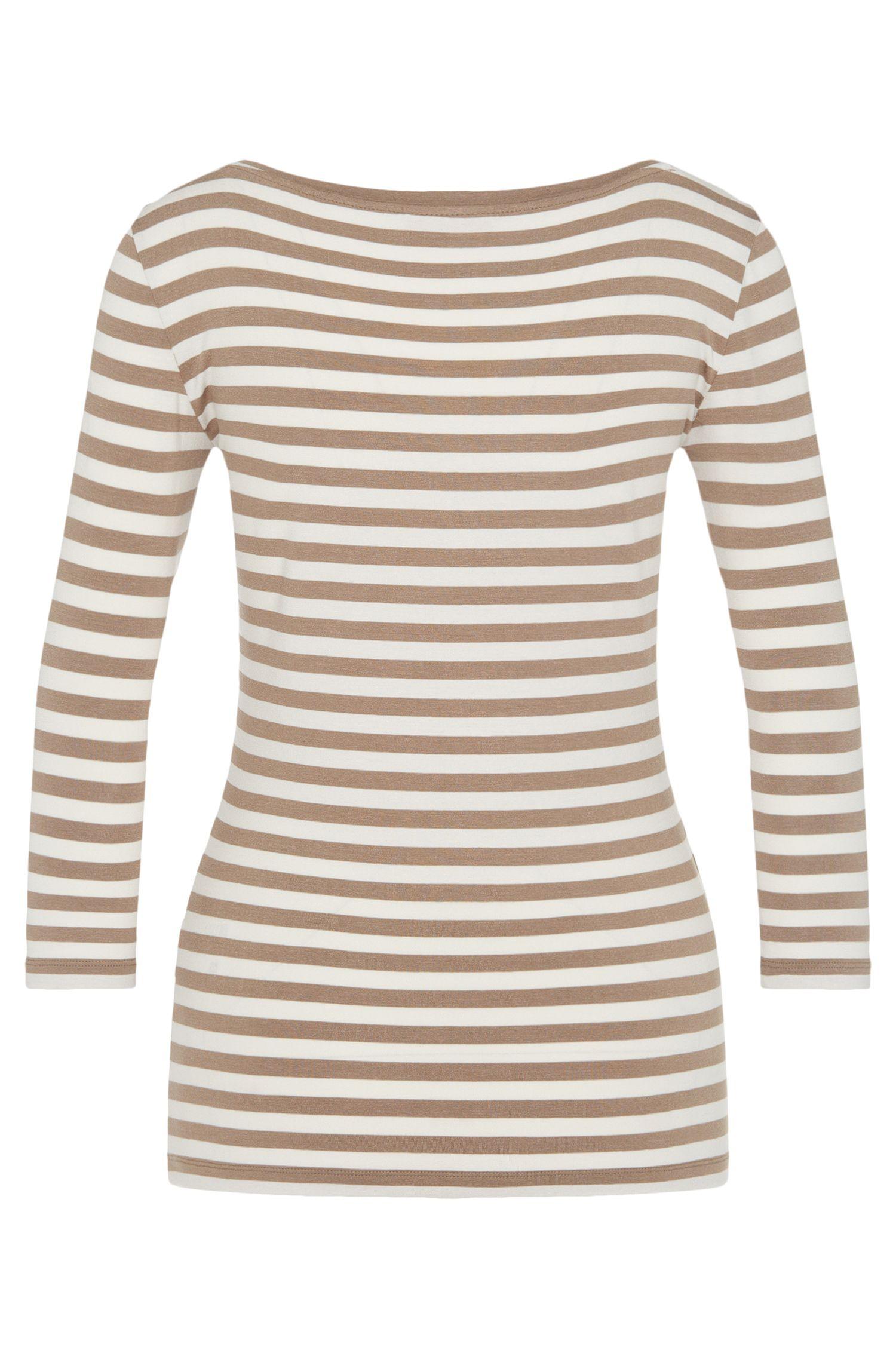 Gestreiftes Shirt aus elastischer Viskose: 'Dannela_2'