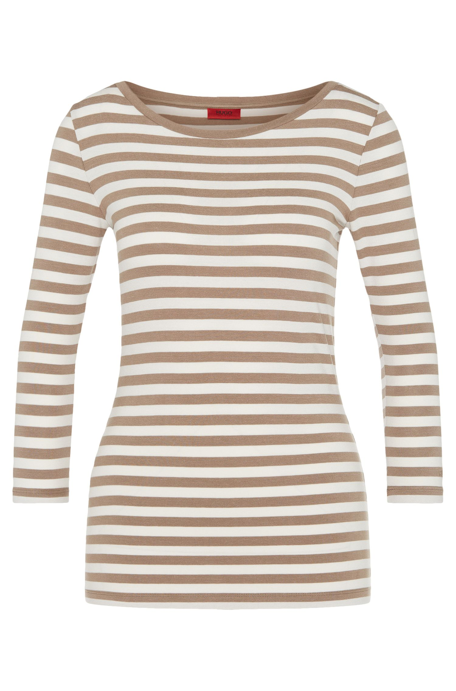 Striped shirt in stretch viscose: 'Dannela_2'