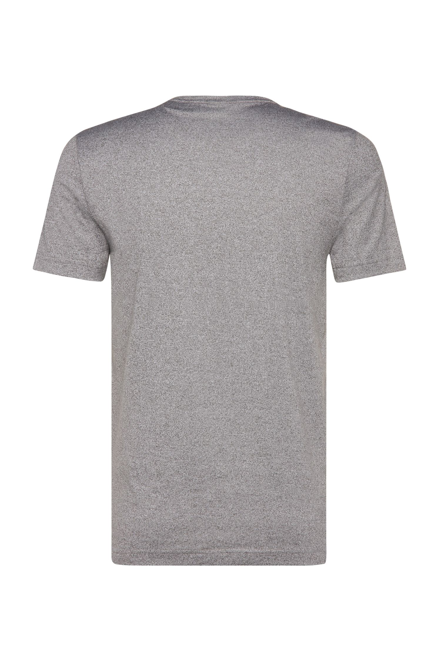 Meliertes Slim-Fit T-Shirt aus Baumwoll-Mix: ´Tee 9`