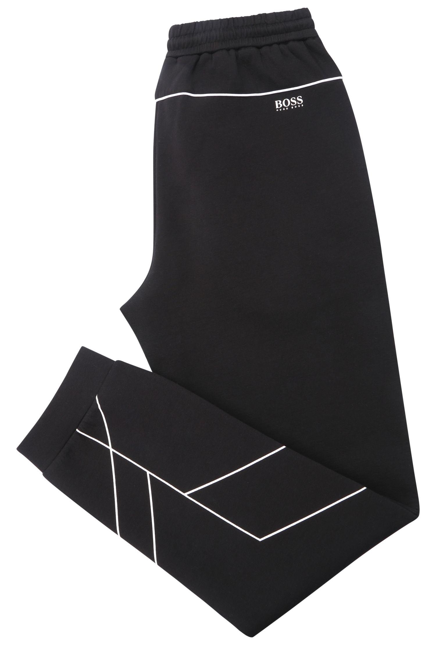 Jogginghose mit Kontrastbesätzen aus elastischem Baumwoll-Mix: ´Hilliams`