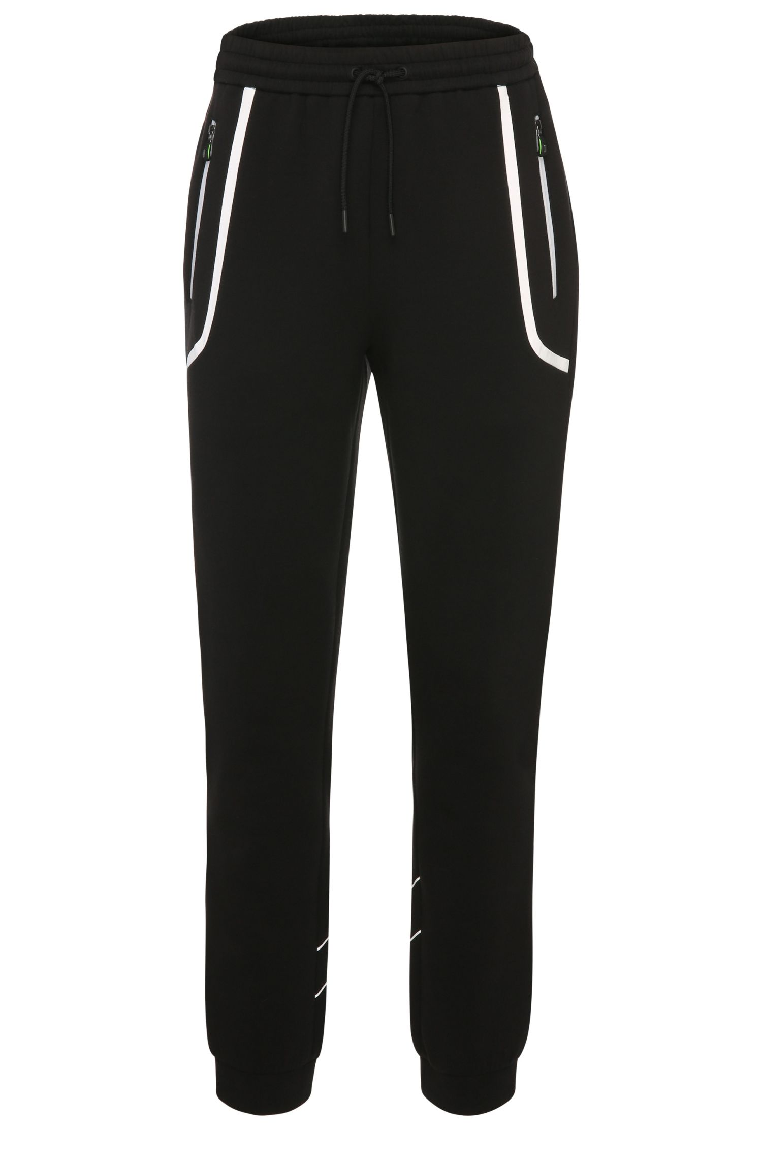 Tracksuit bottoms in stretchy cotton blend with contrast trim: 'Hilliams'