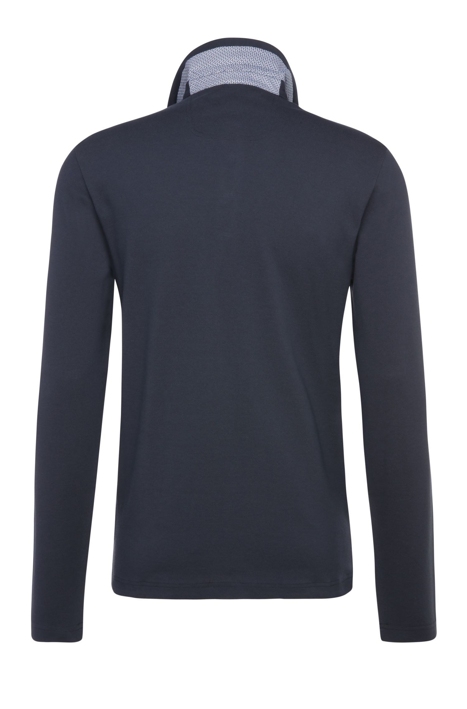 Regular-Fit Langarm-Poloshirt aus Baumwolle: ´C-Tivoli`