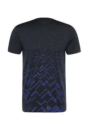 Slim-Fit Print-Shirt aus Baumwoll-Mix mit Lyocell: ´Teeocell`, Dunkelblau